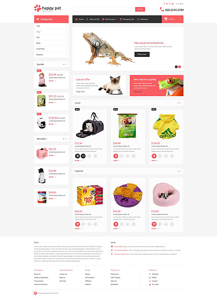 Template 53712 for Opencart template editor