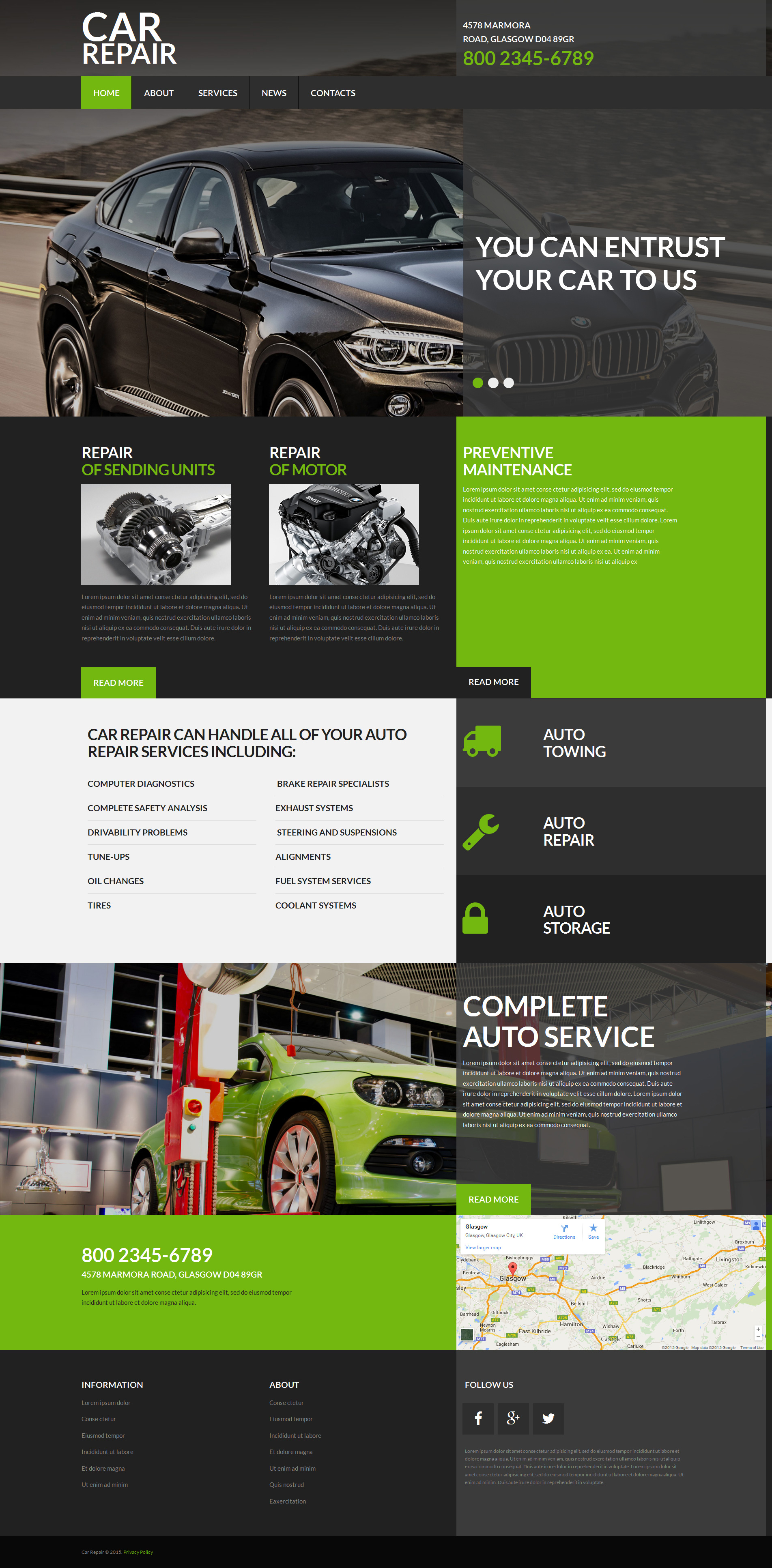 Car Repair Moto CMS 3 Template