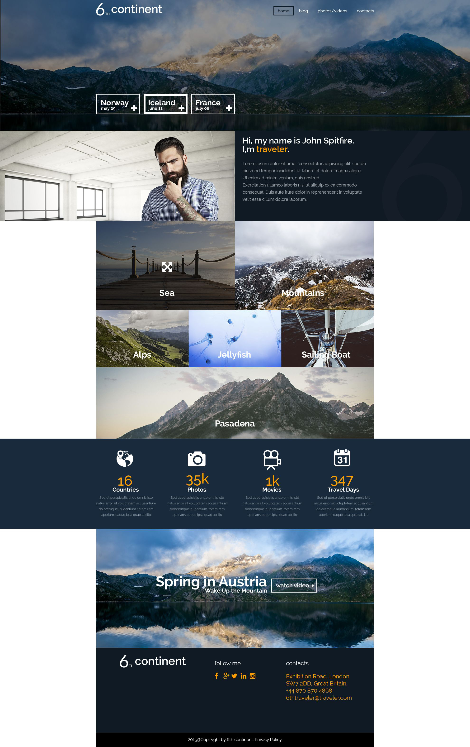 6th Continent WordPress Theme