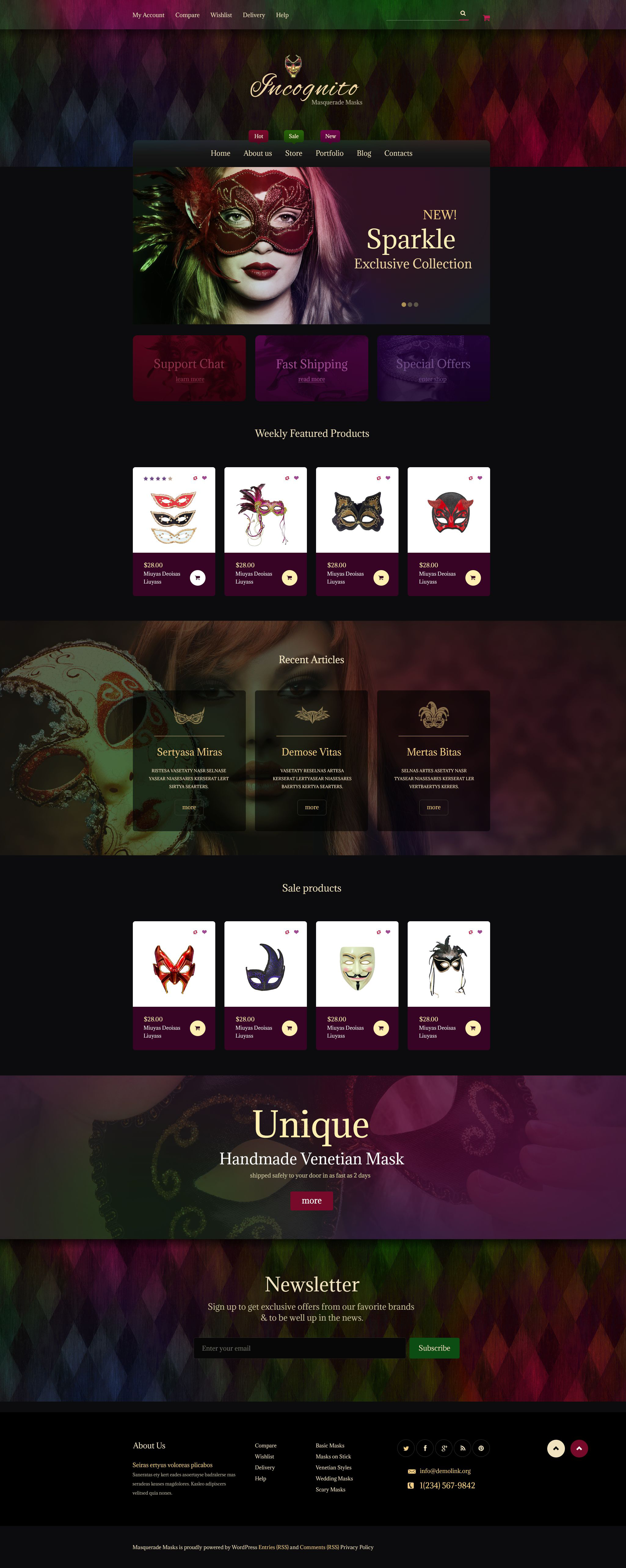 Incognito WooCommerce Theme