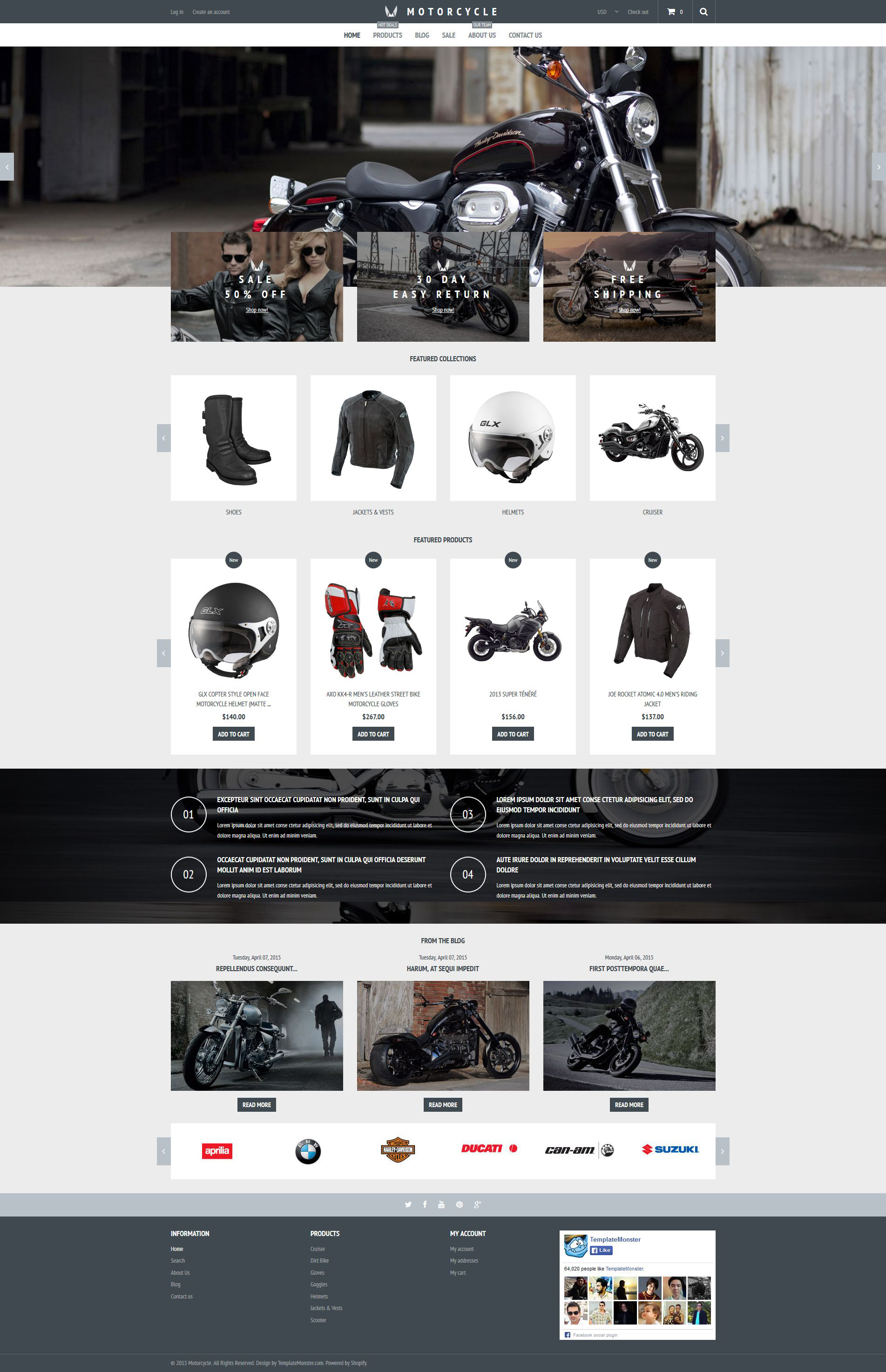 Motorcycle Store Shopify Theme