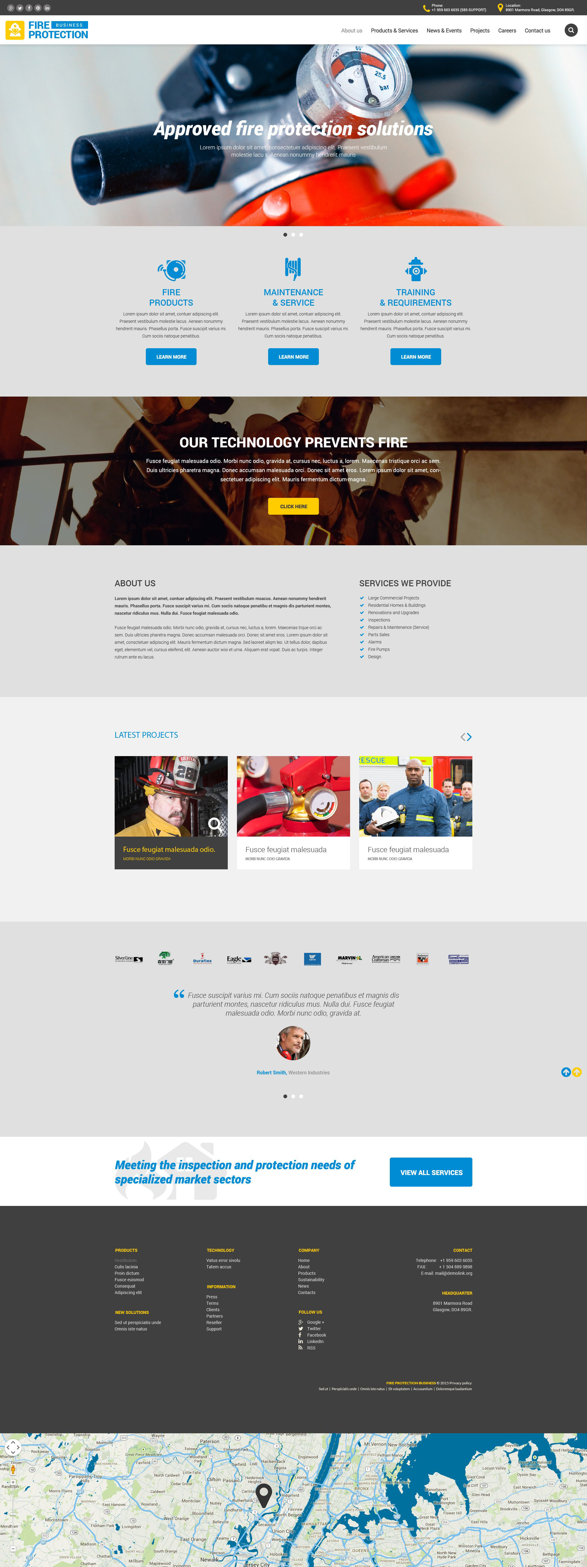 Fire Protection Business Website Template