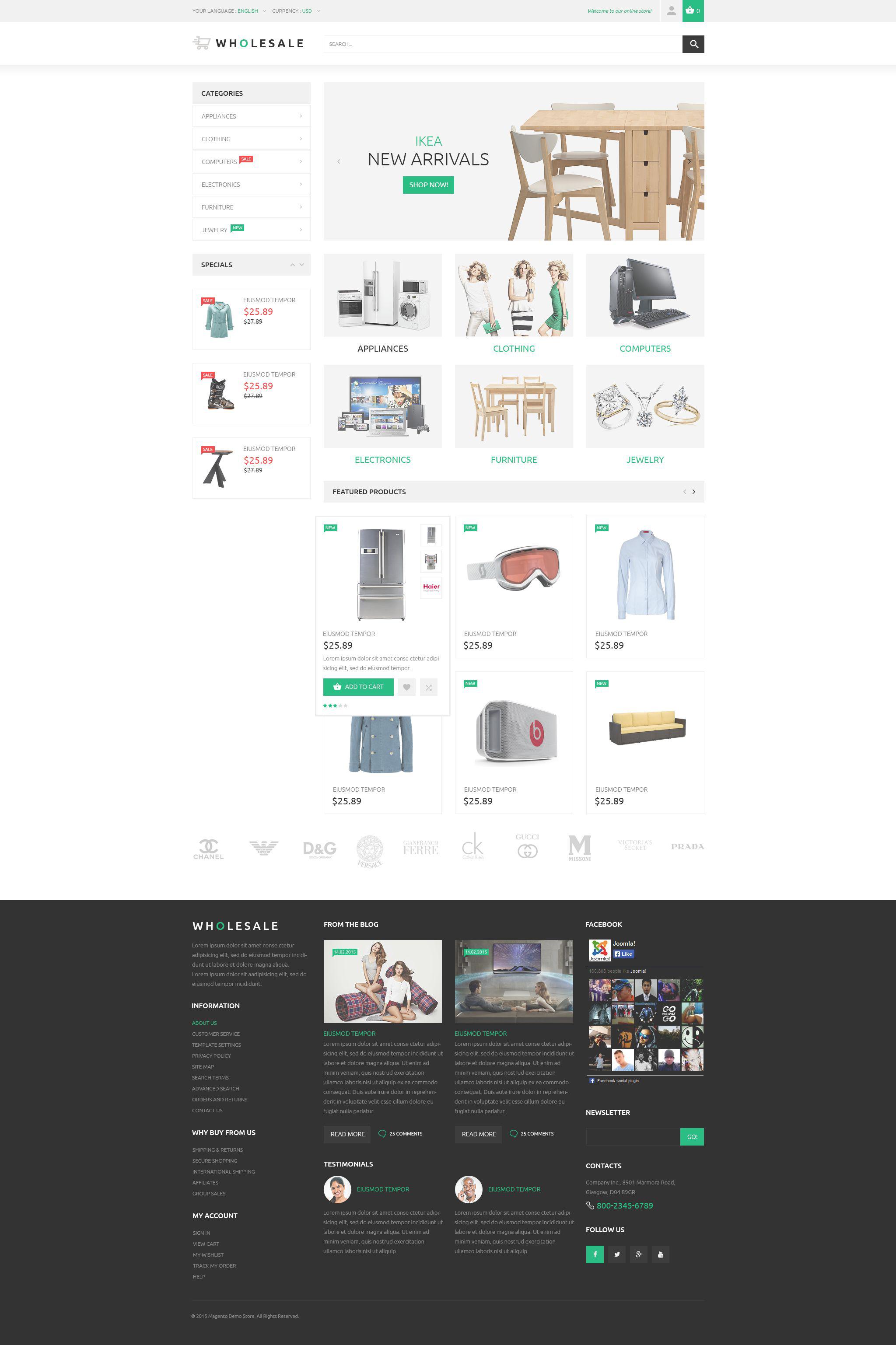 Online Warehouse Magento Theme
