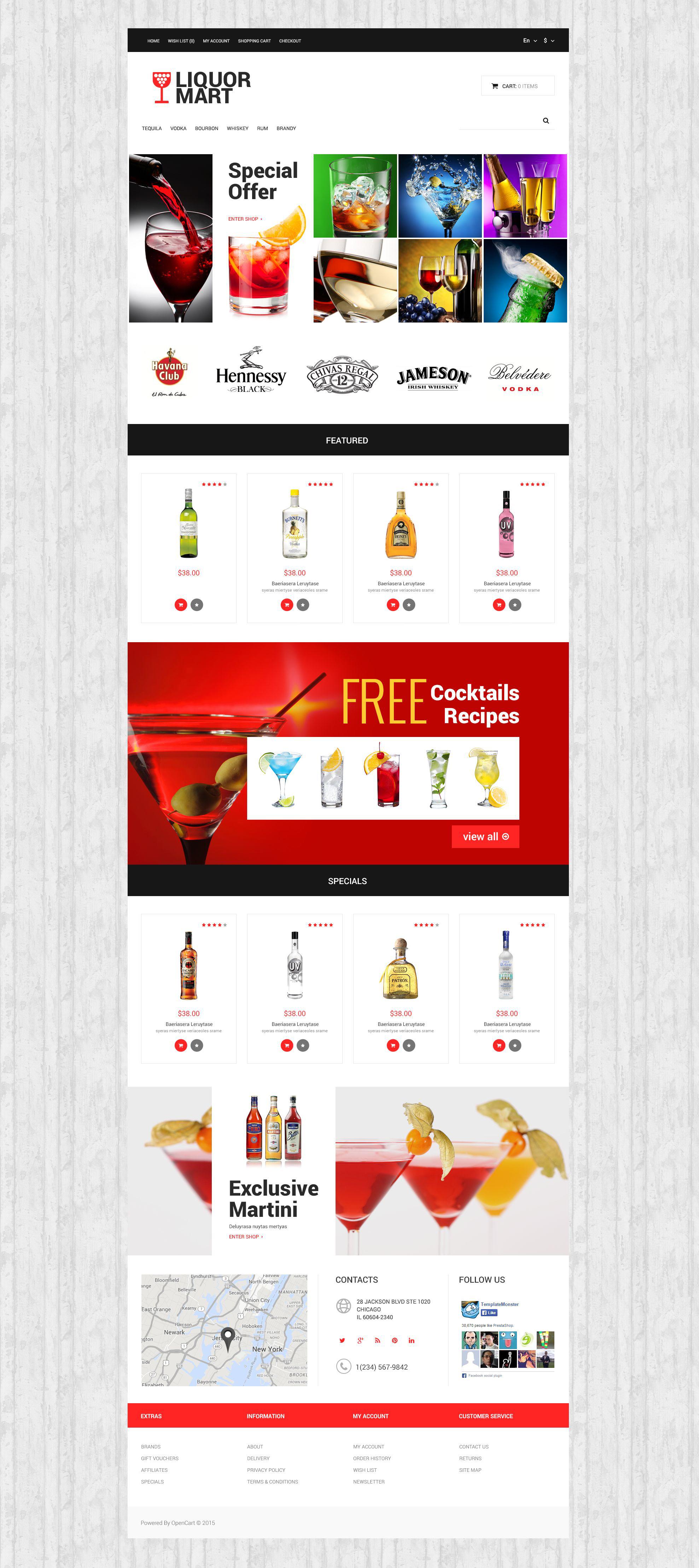 Liquor Mart OpenCart Template