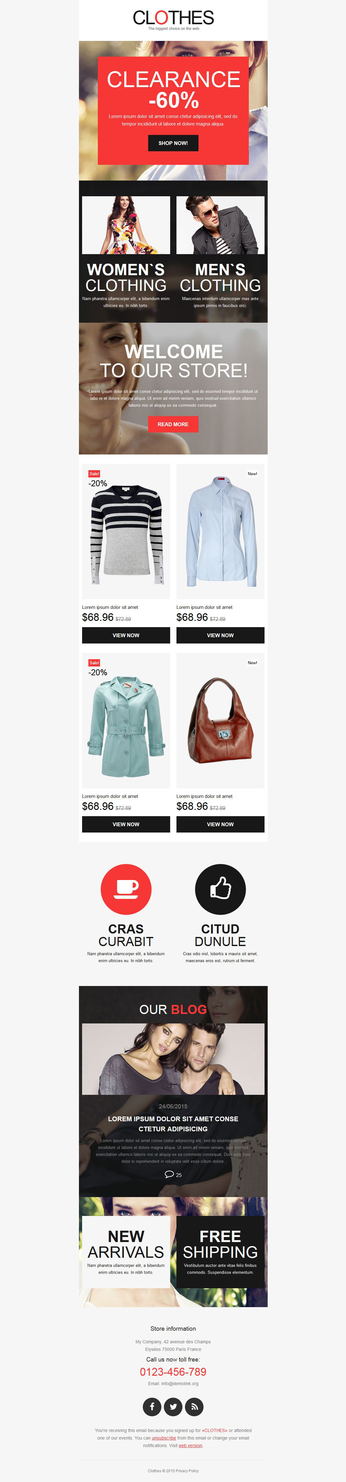 Apparel Responsive Newsletter Template