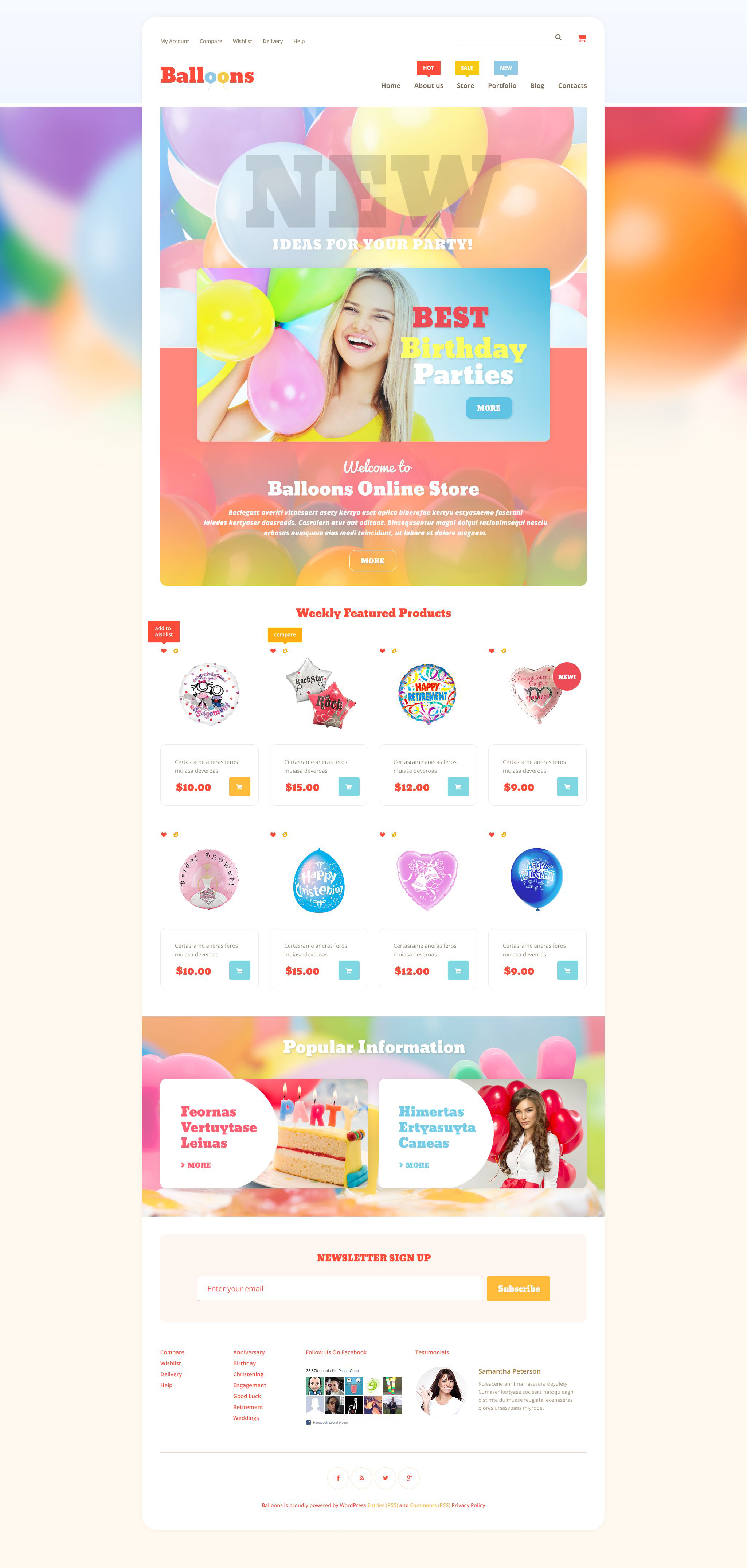 Balloons Store WooCommerce Theme