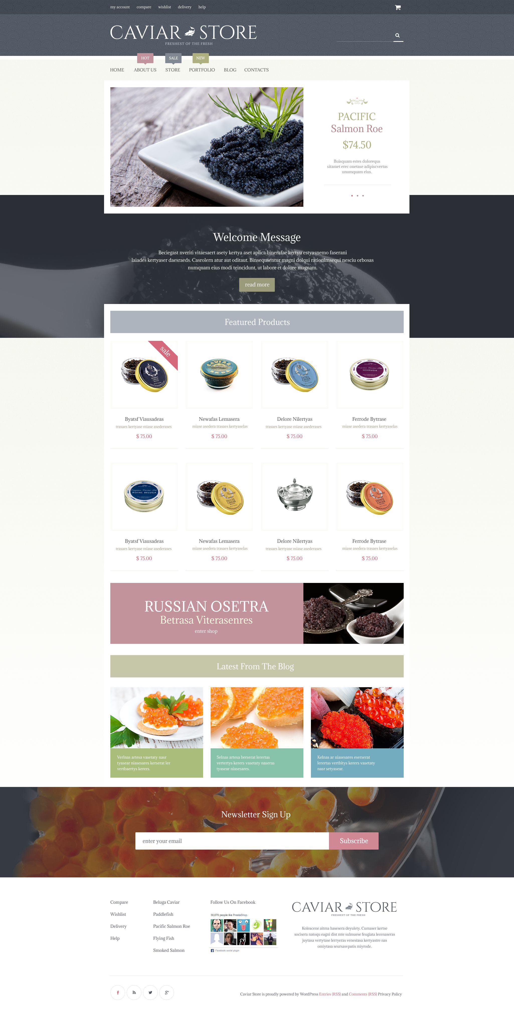 Caviar Delicacy WooCommerce Theme