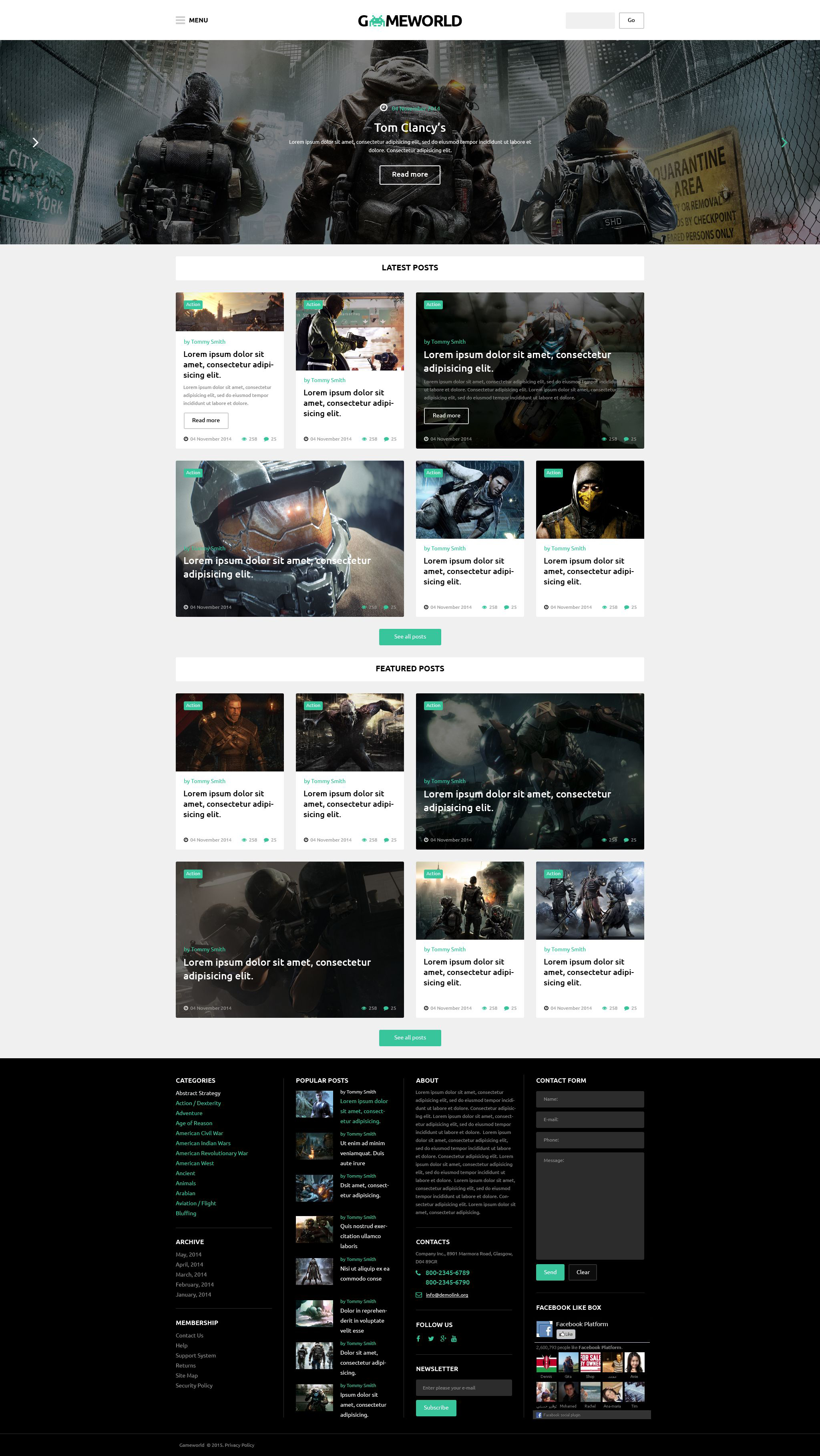 Gameworld WordPress Theme