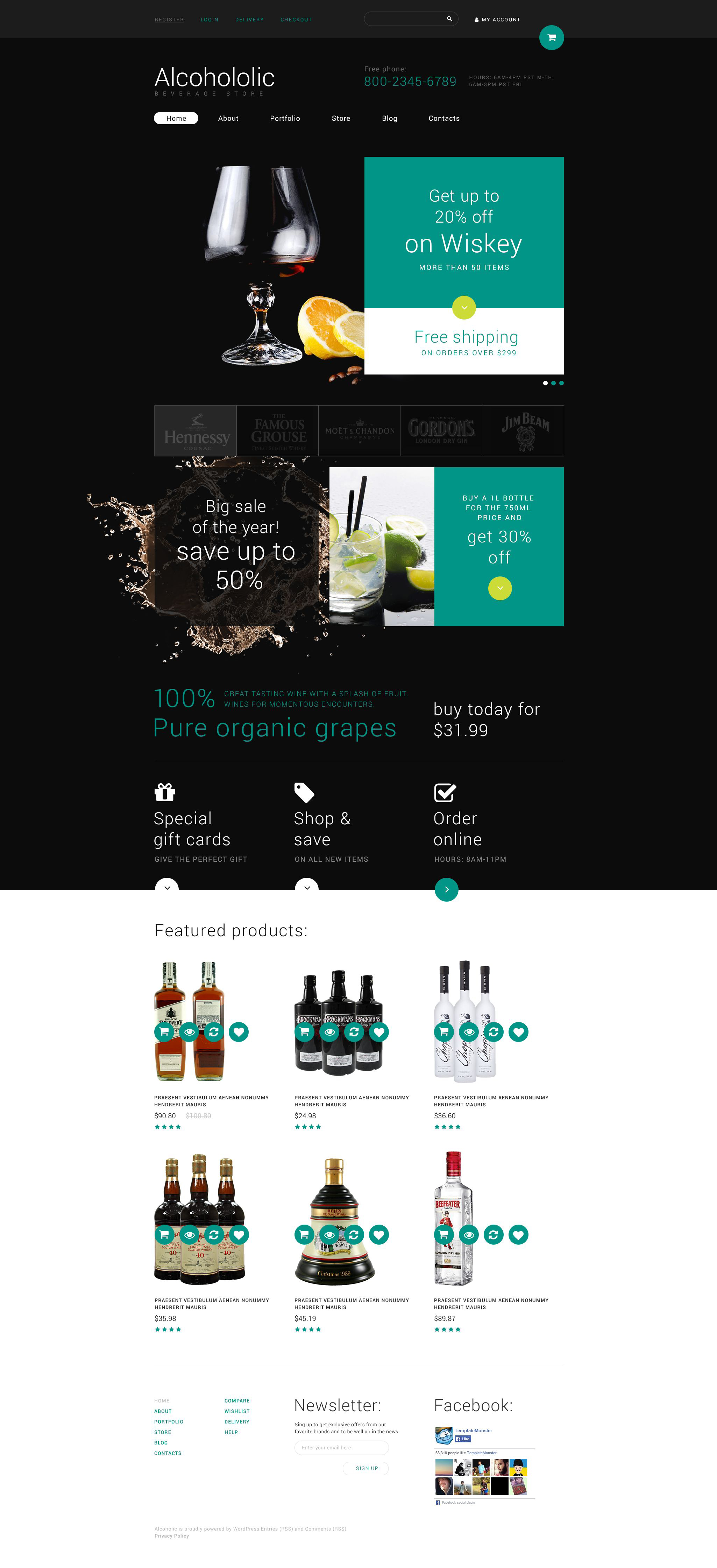 Food and Drink Store WooCommerce Theme