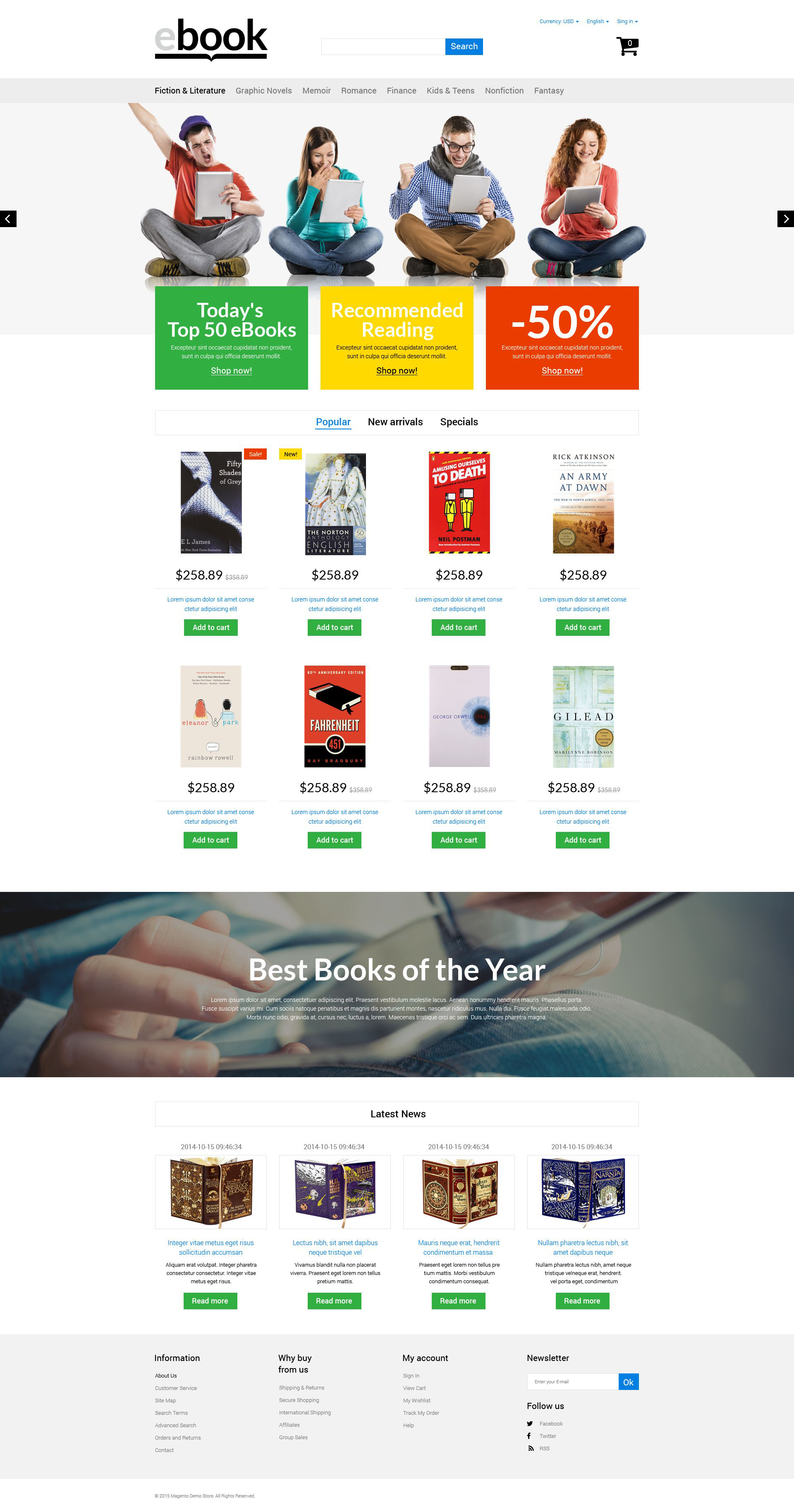 eBook PrestaShop Theme