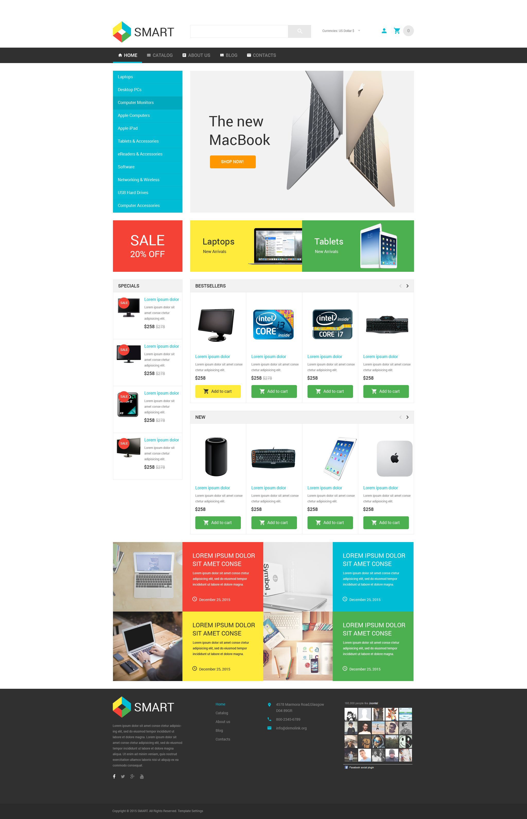 Smart Electronics Store VirtueMart Template