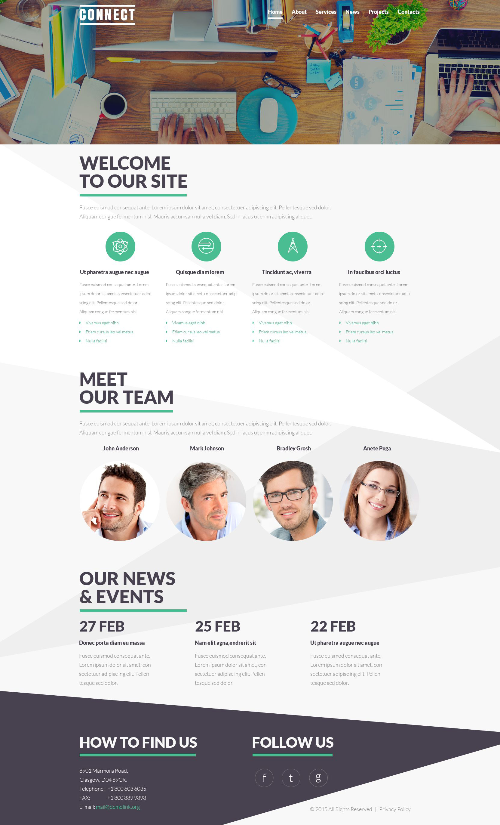 Communications Service Theme Joomla Template