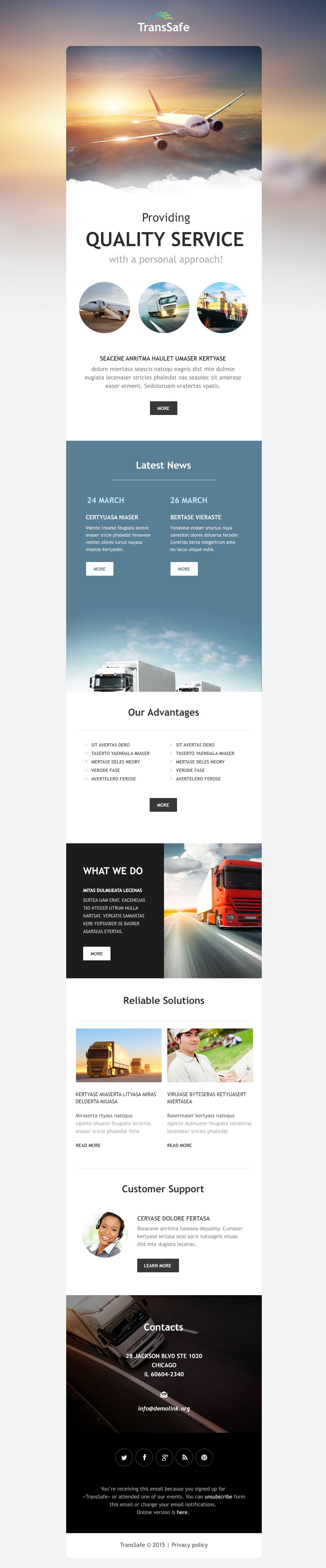 Transportation Responsive Newsletter Template