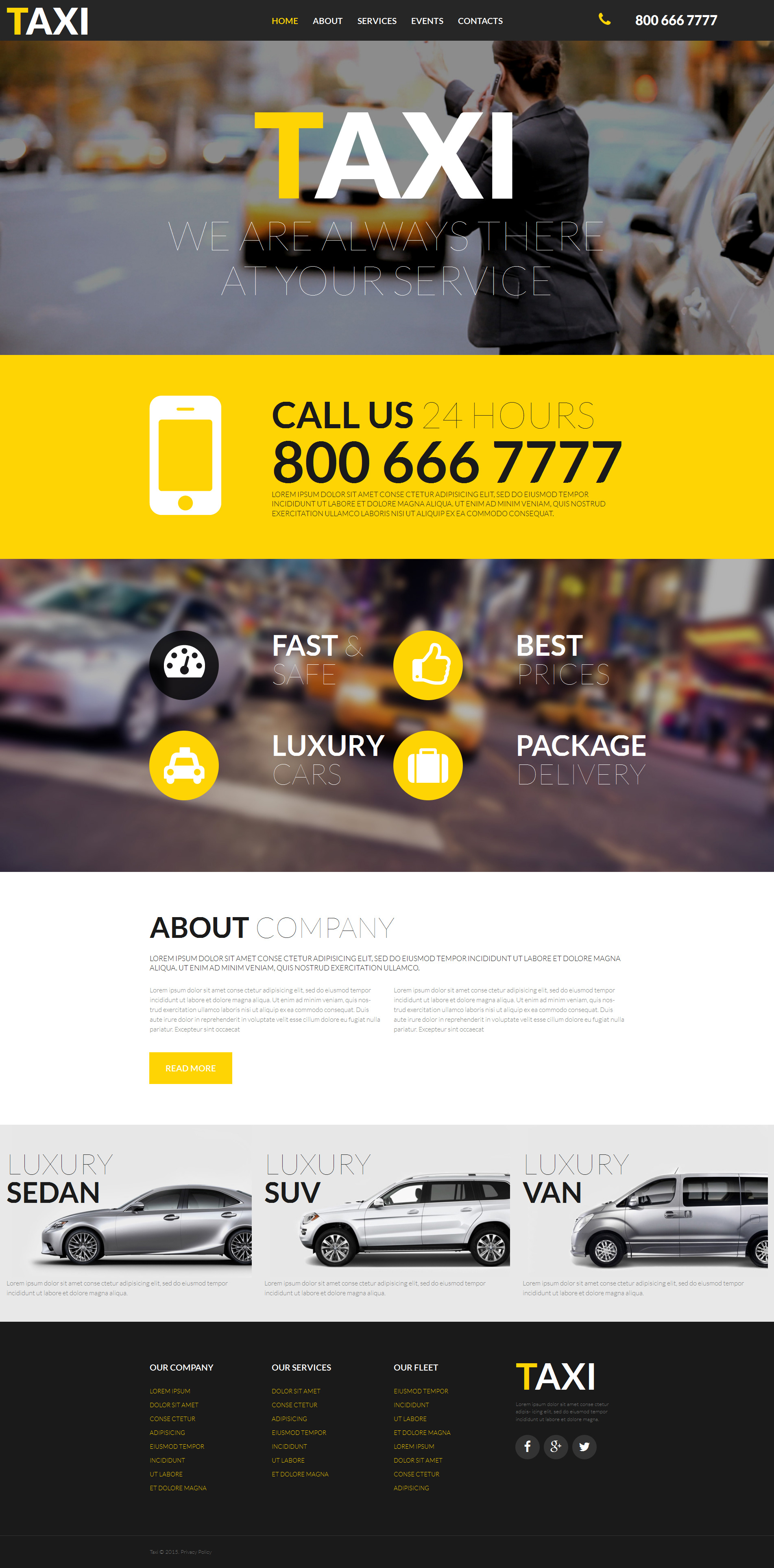 Taxi Responsive Moto CMS 3 Template