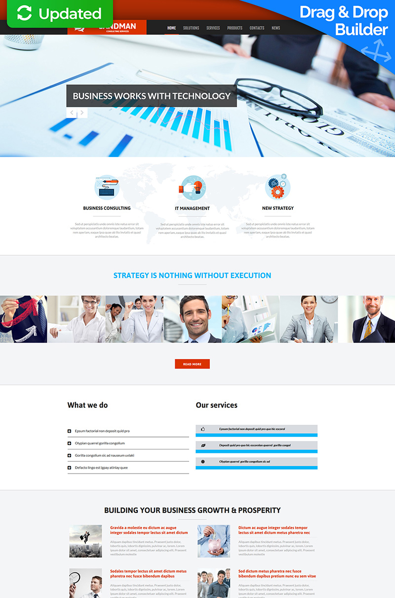 Consulting Moto CMS 3 Template