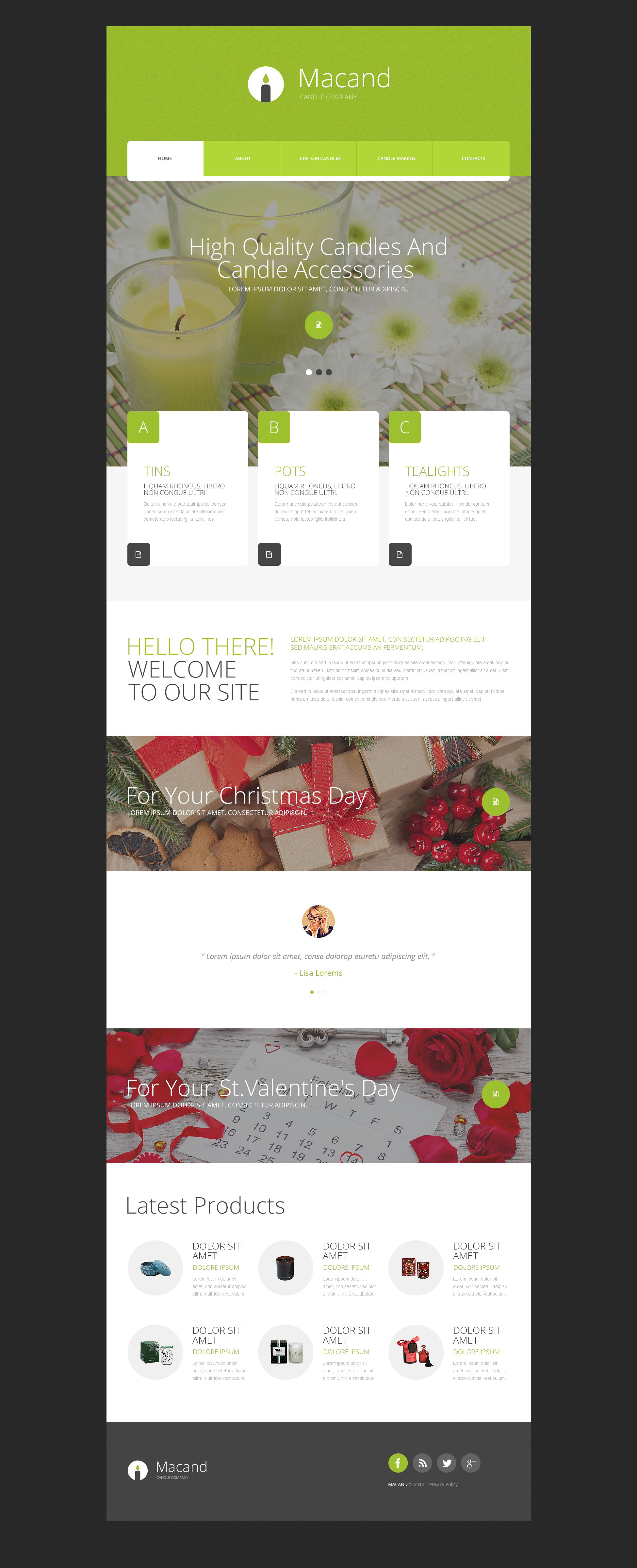 Gifts Store Website Template