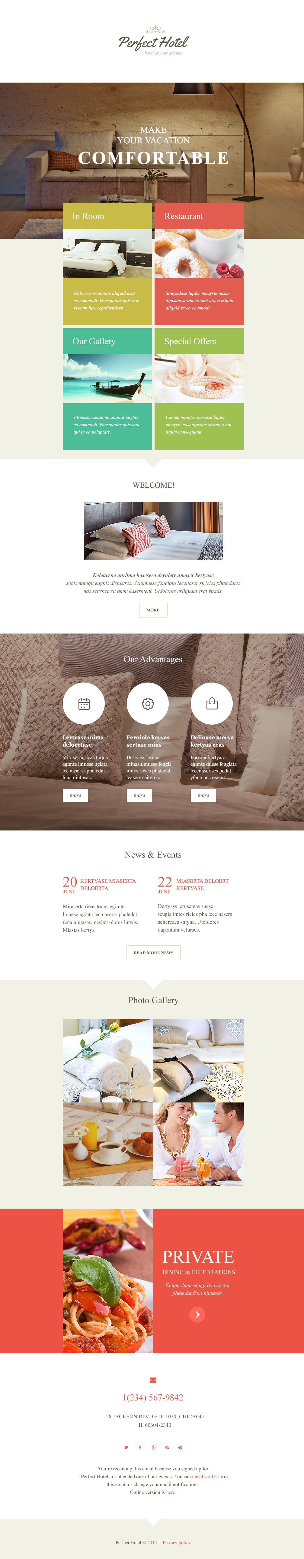 Hotels Responsive Newsletter Template