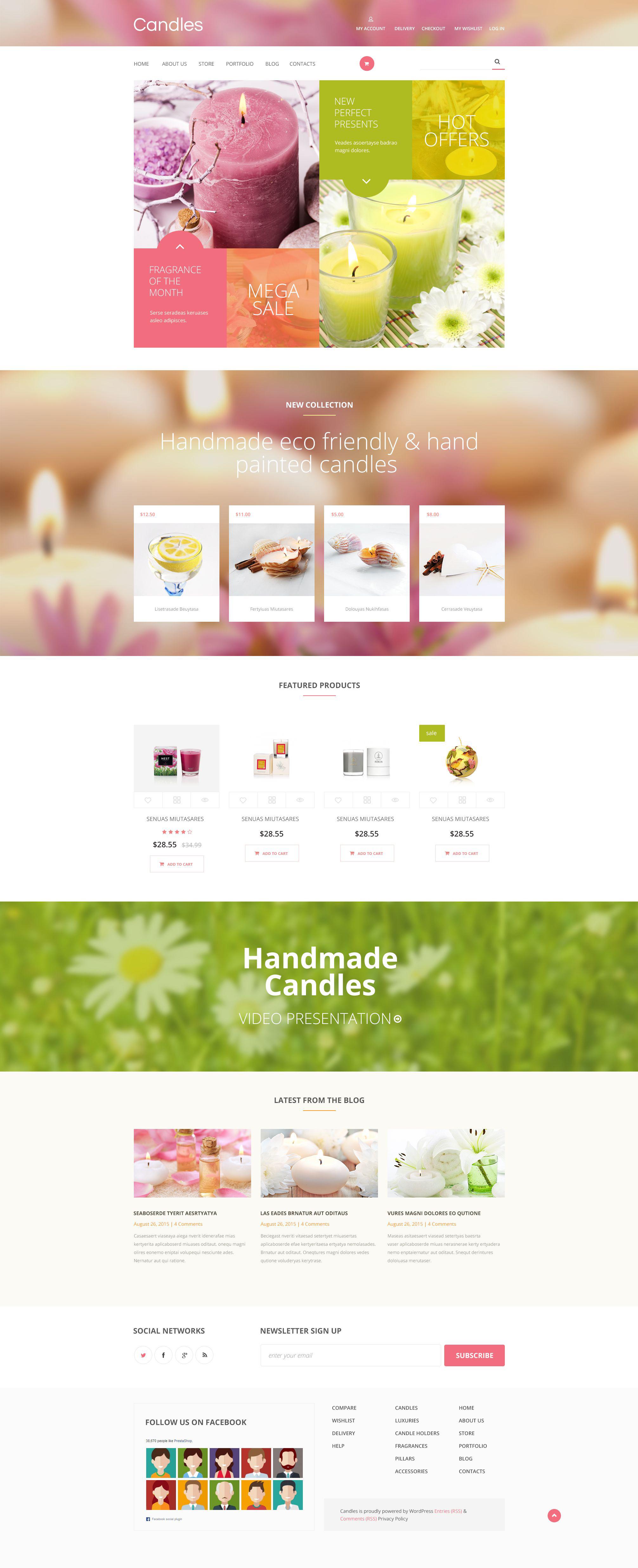 Candles WooCommerce Theme