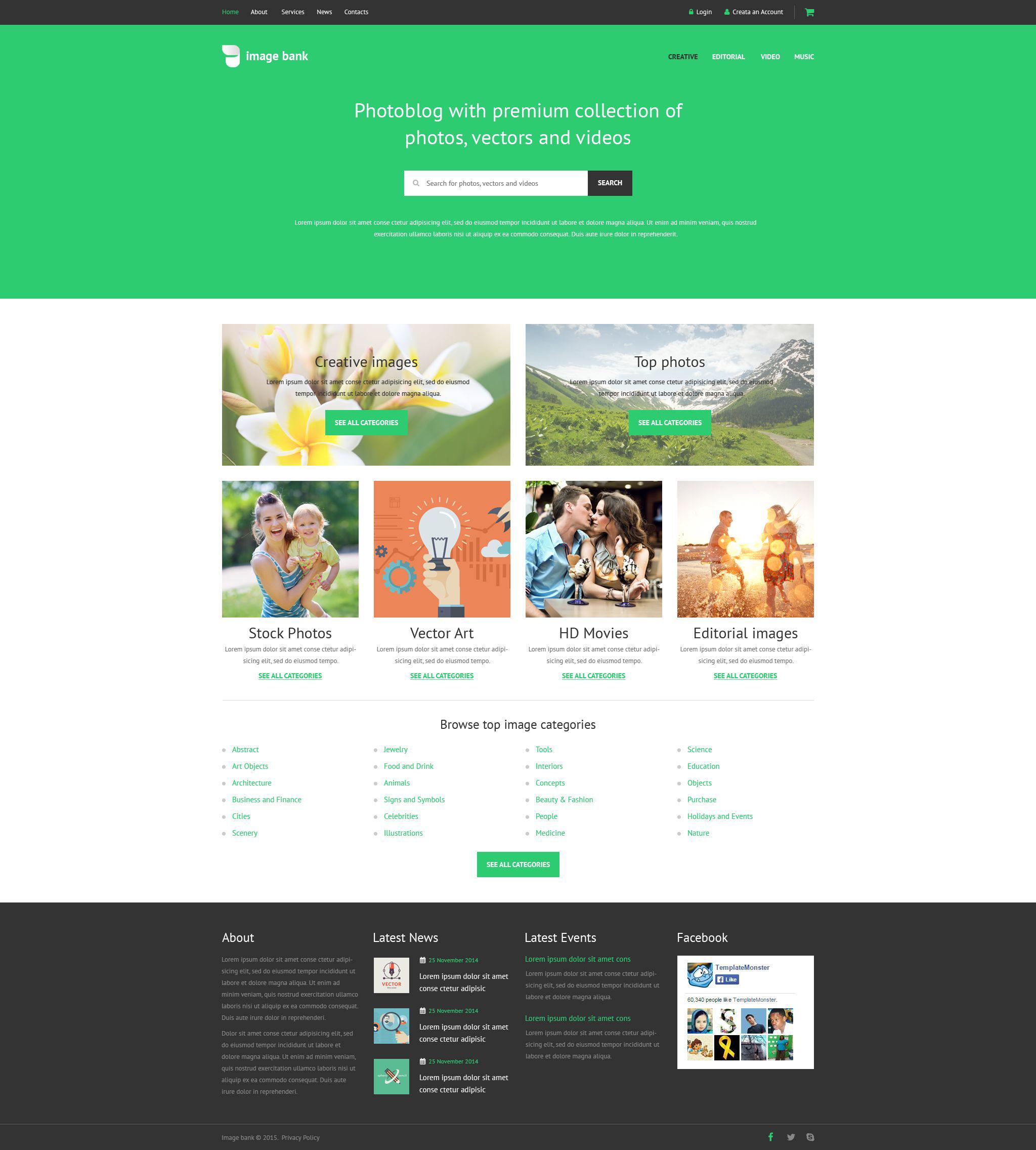 Шаблоны сайтов