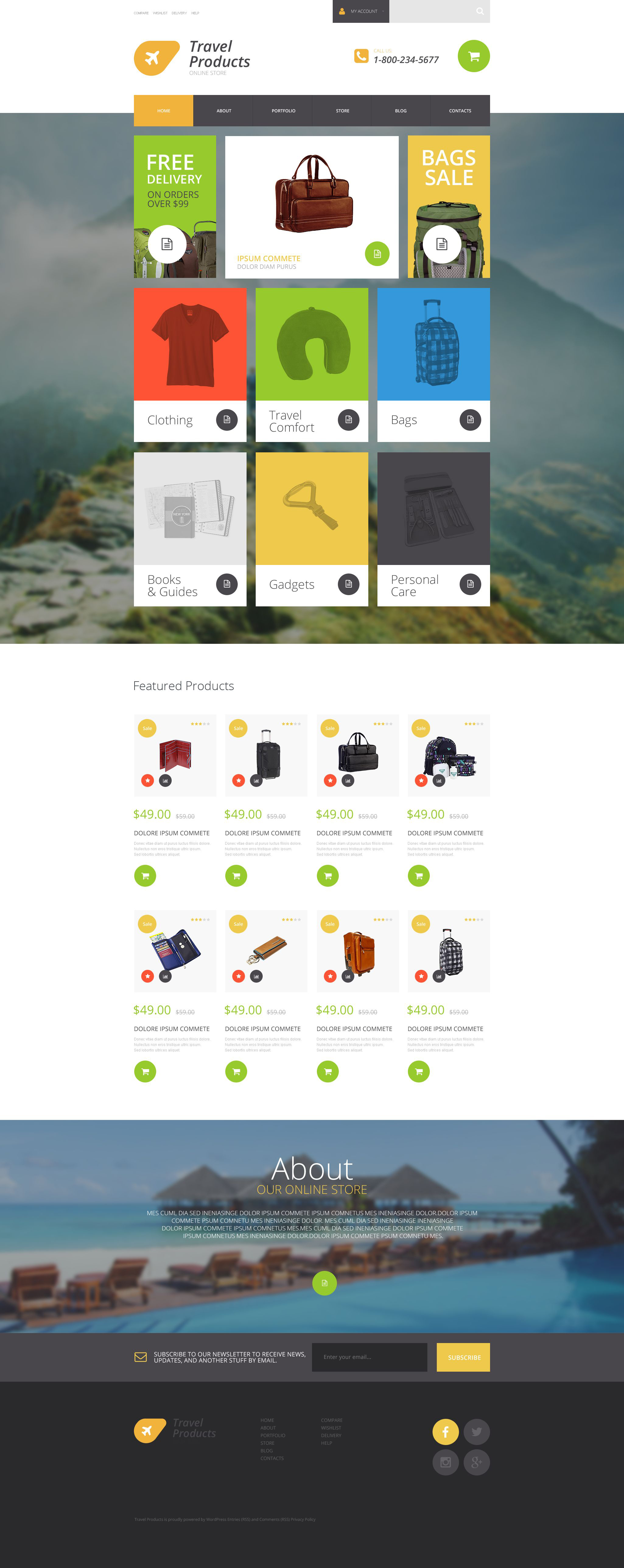 Travel Products Store WooCommerce Theme