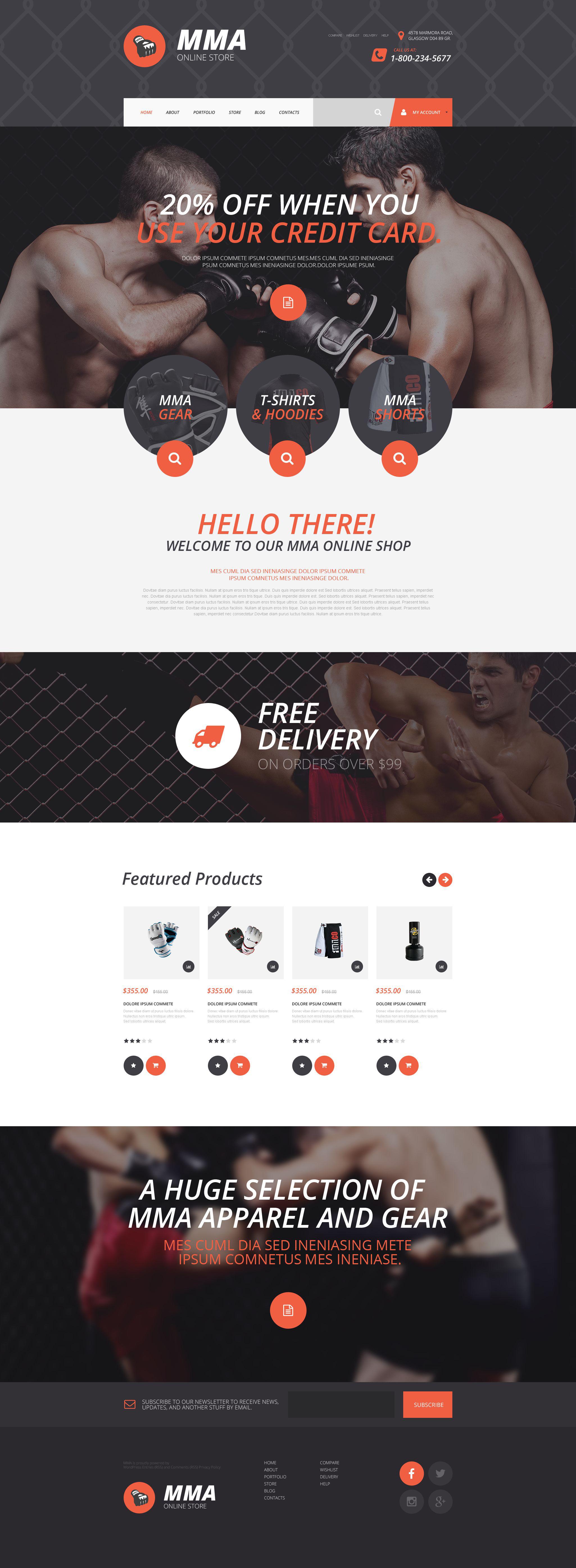 MMA Online Store WooCommerce Theme