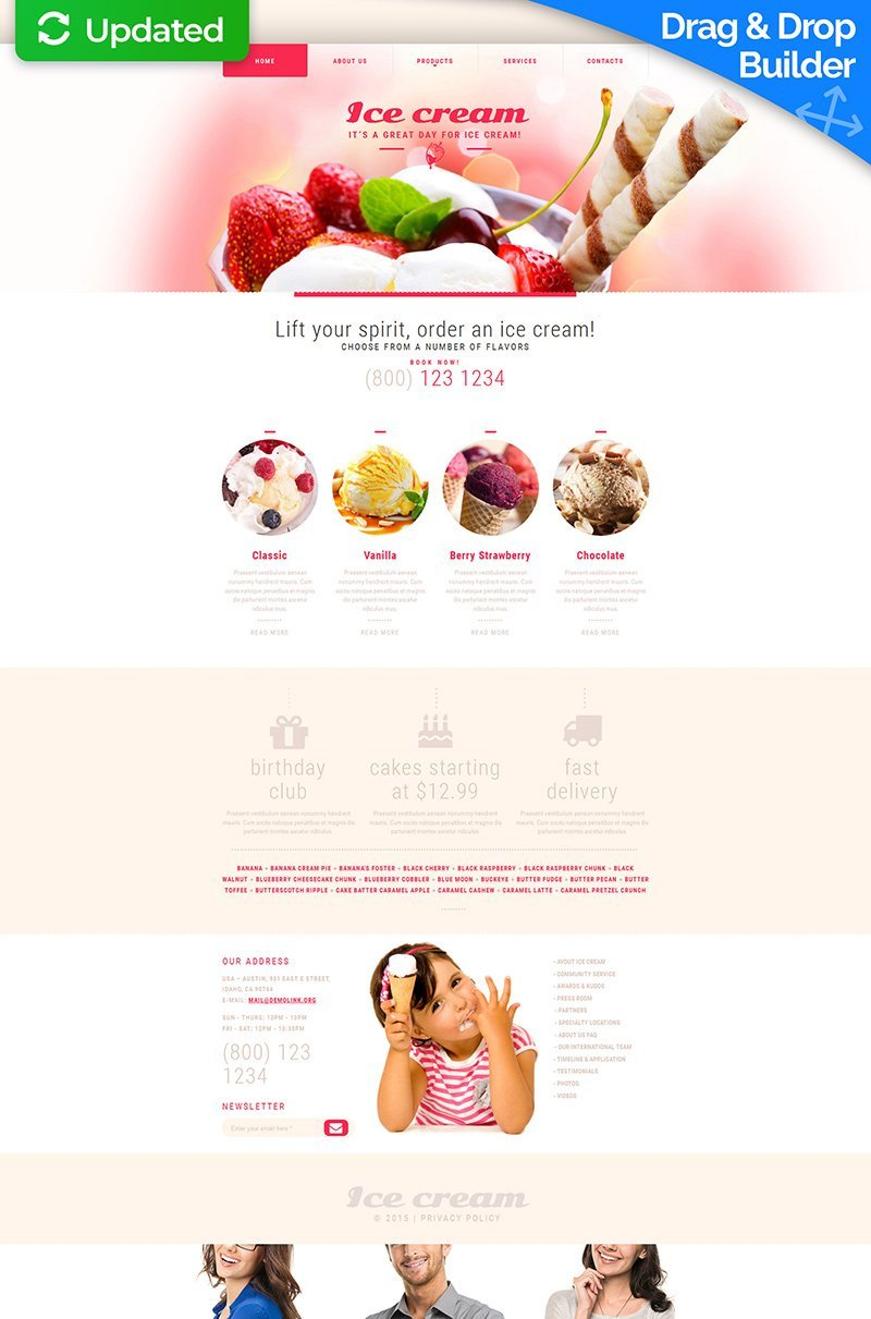 Ice Cream Moto CMS 3 Template