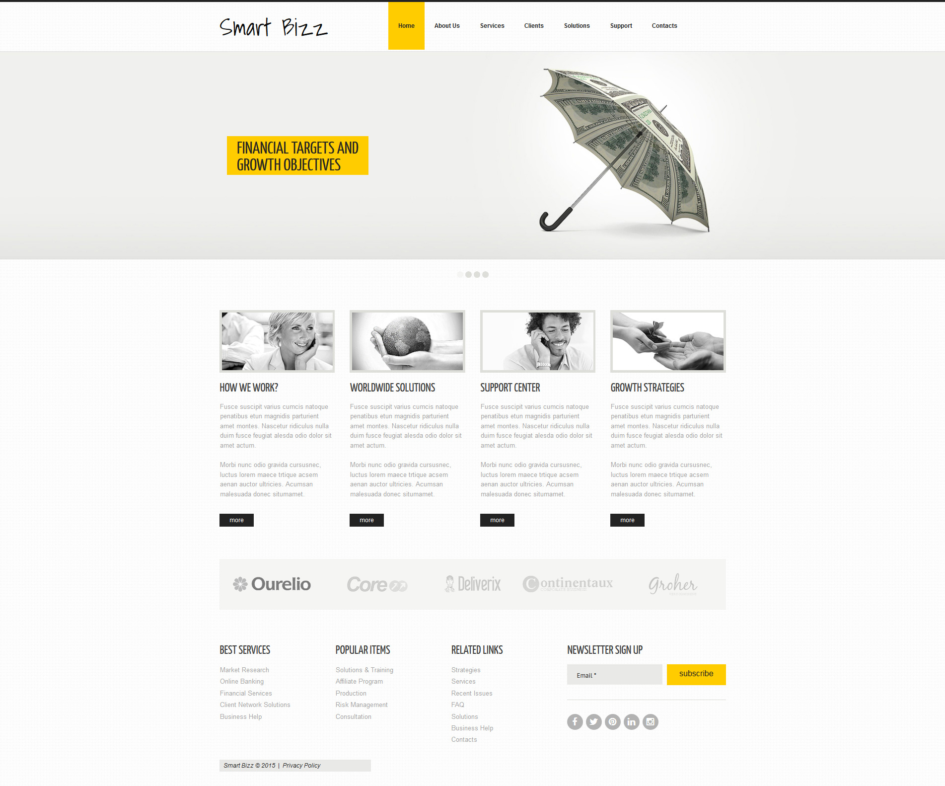 Business & Services Moto CMS 3 Template