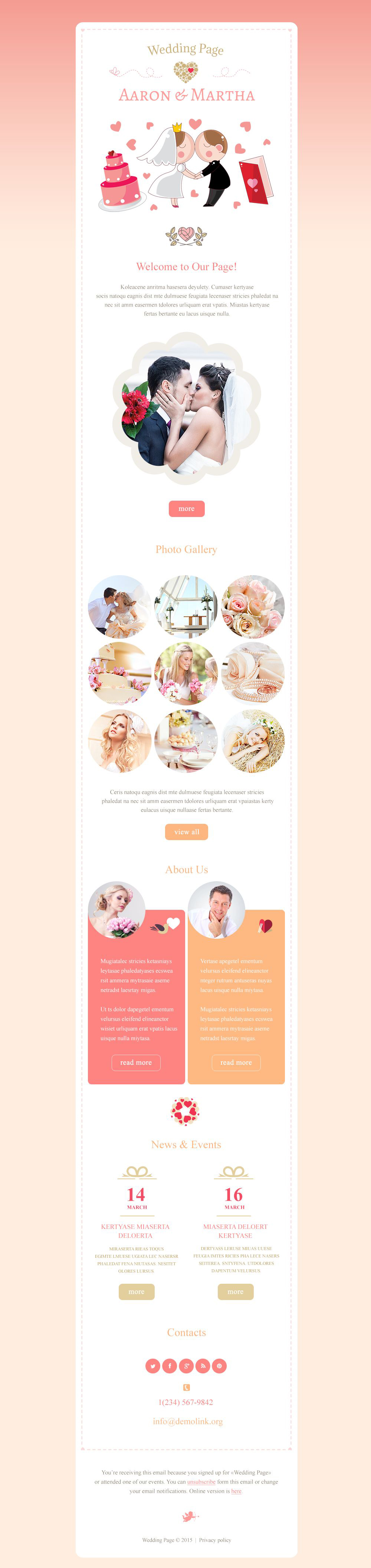 Wedding Planner Responsive Newsletter Template
