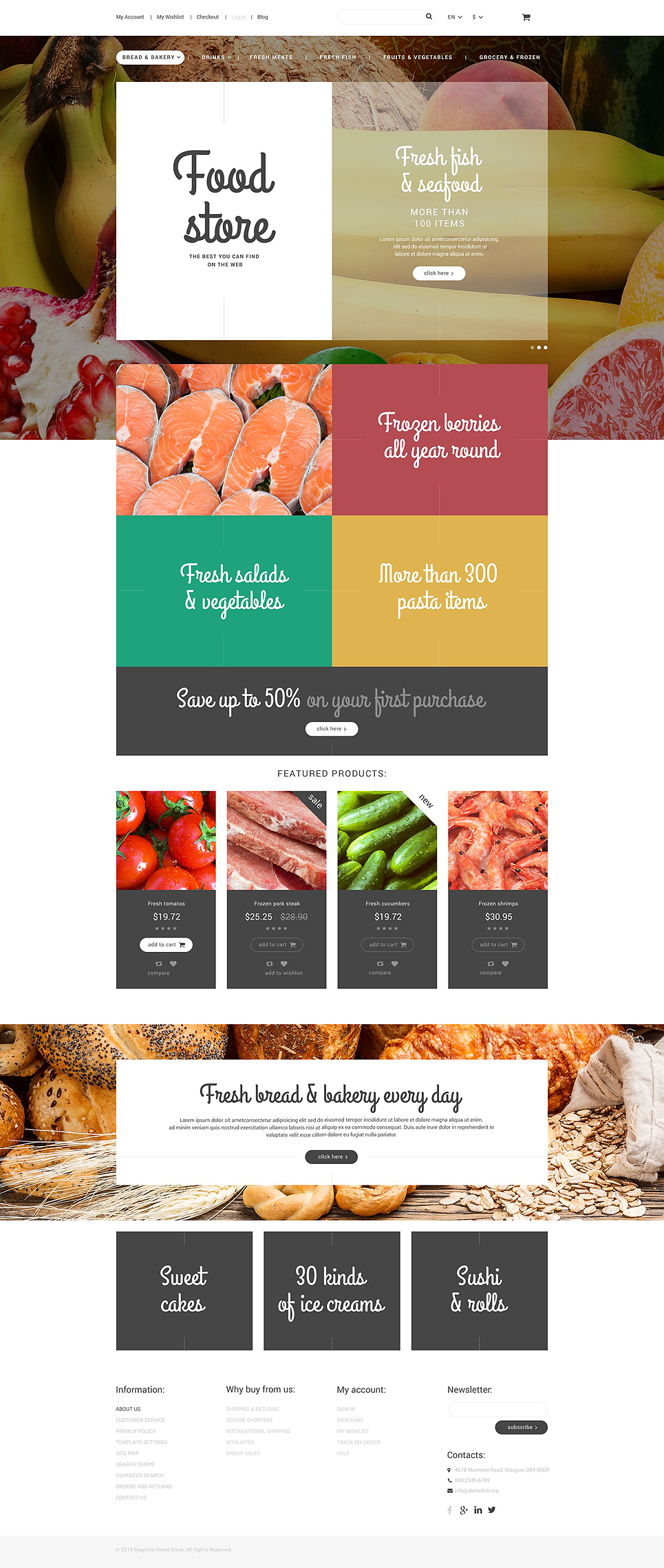 Food Store Magento Theme | ProperHost on newsletter templates for middle school, newsletter templates for customer service, newsletter templates for 2nd grade,