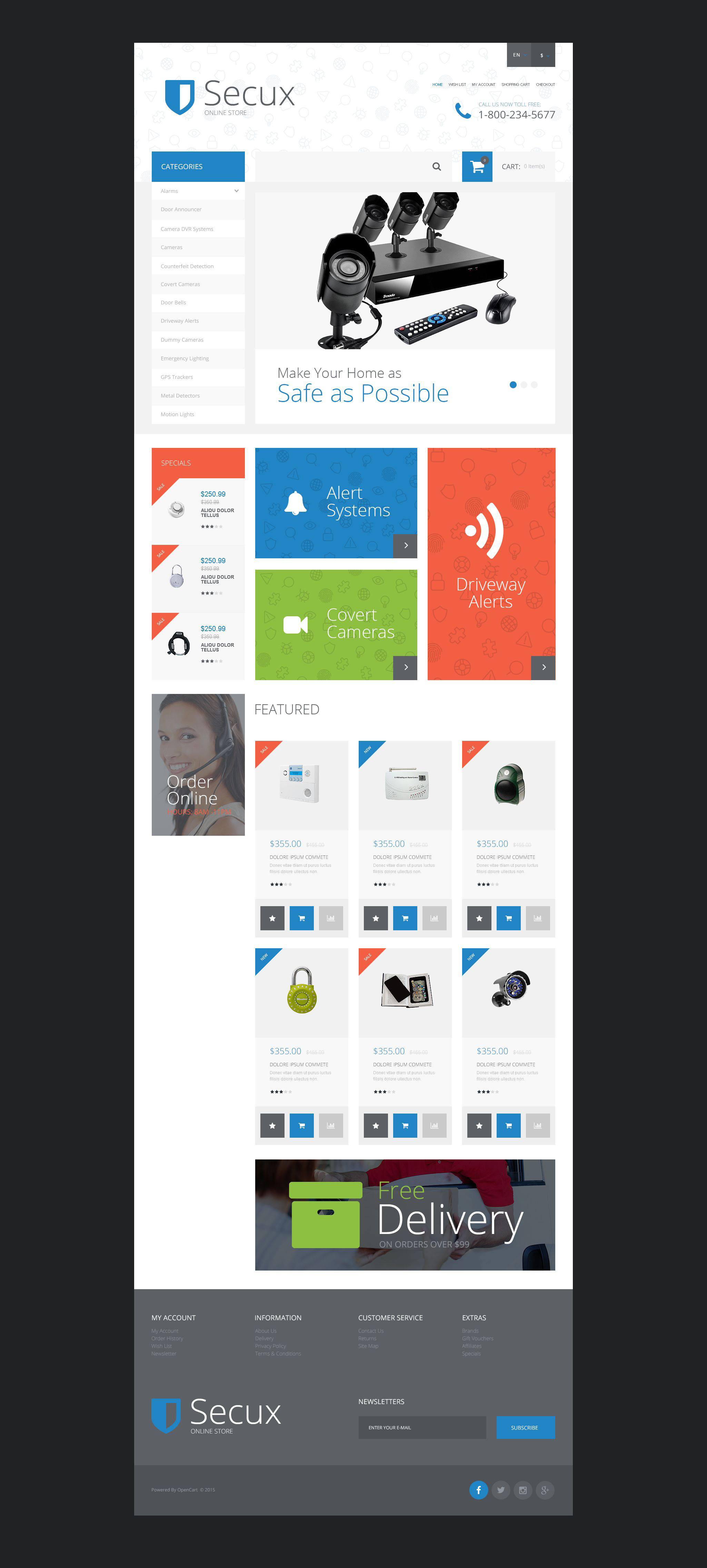 Secux OpenCart Template
