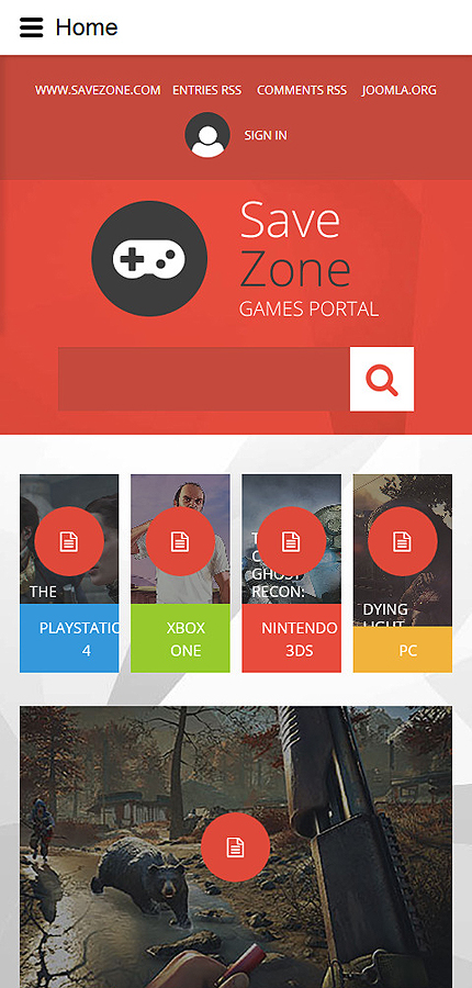 Smartphone Layout 1