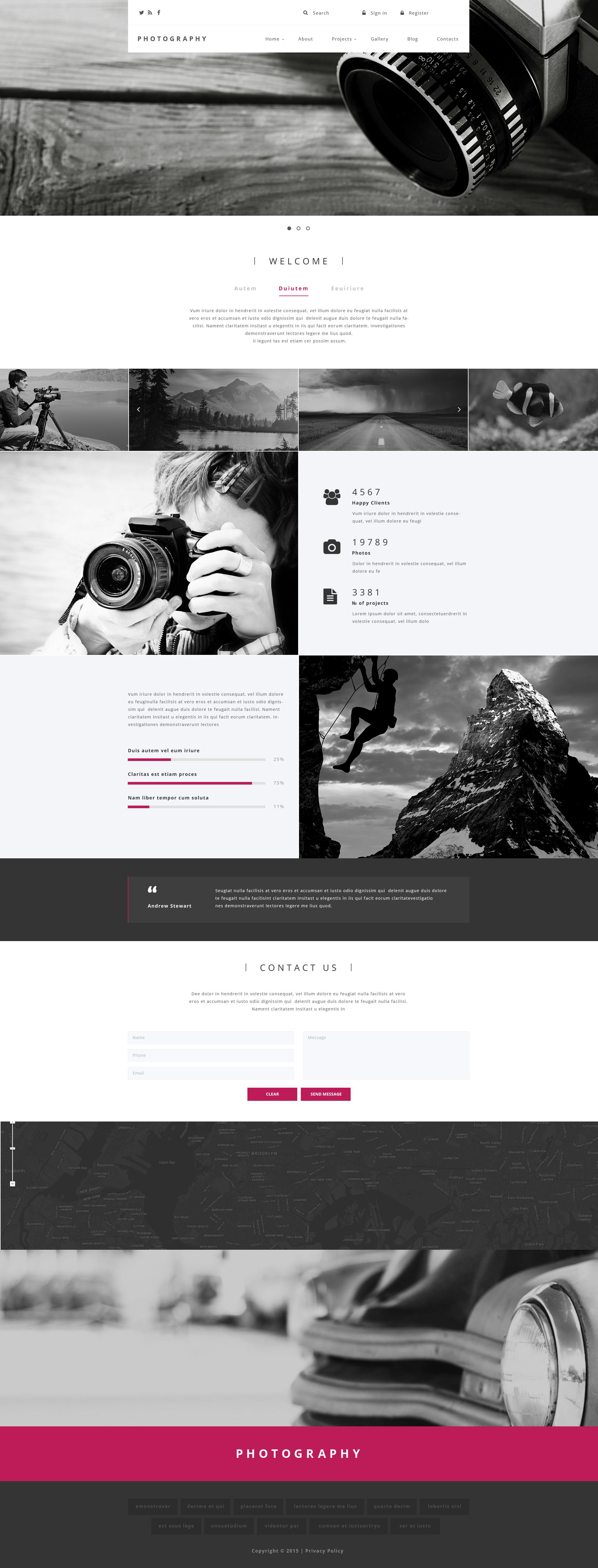 Photography Drupal Template
