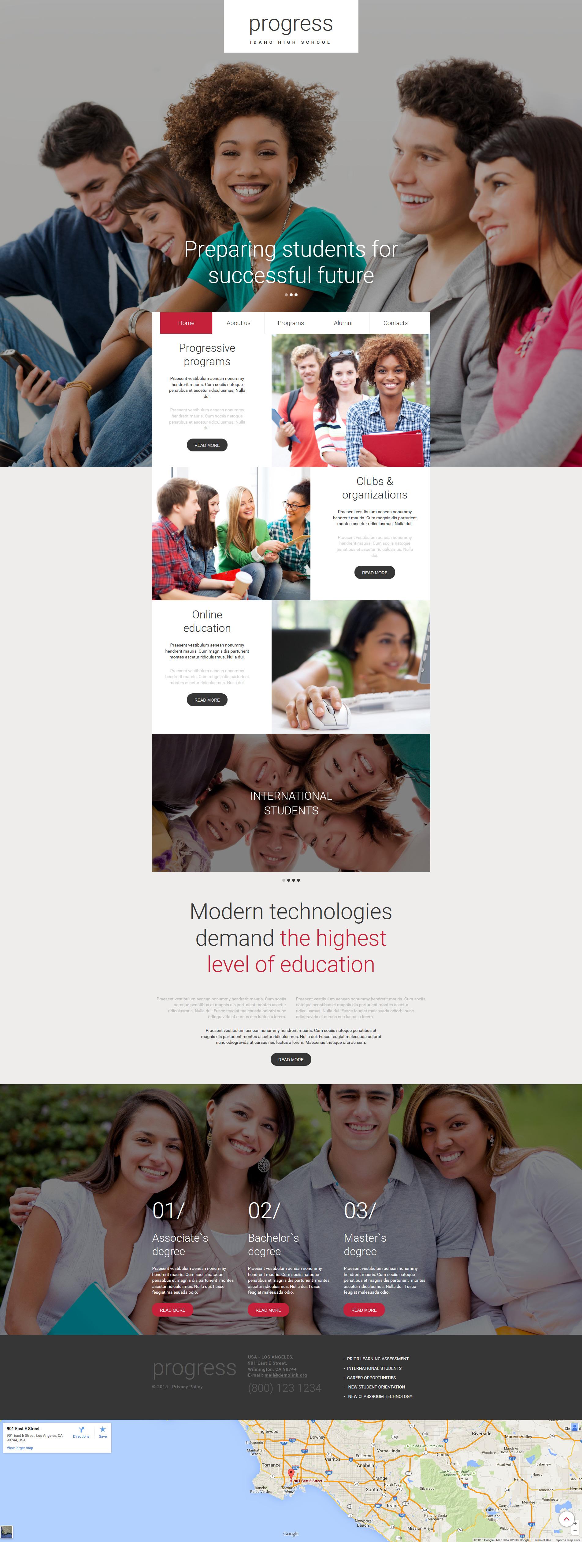 Education Moto CMS 3 Template