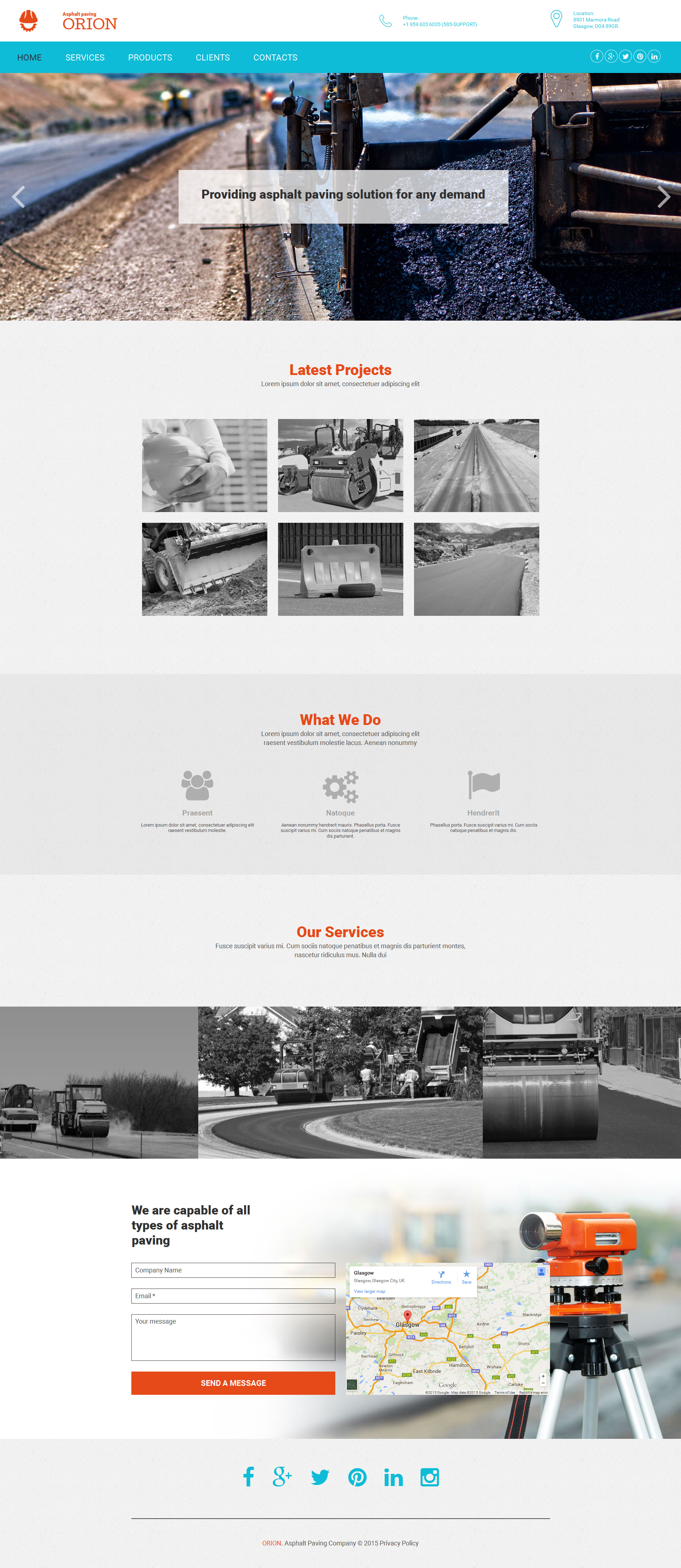 Paving Responsive Moto CMS 3 Template
