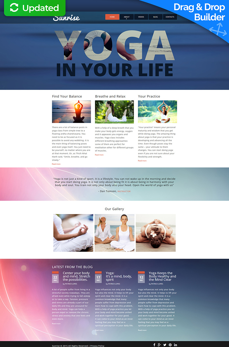 Yoga Website Moto CMS 3 Template