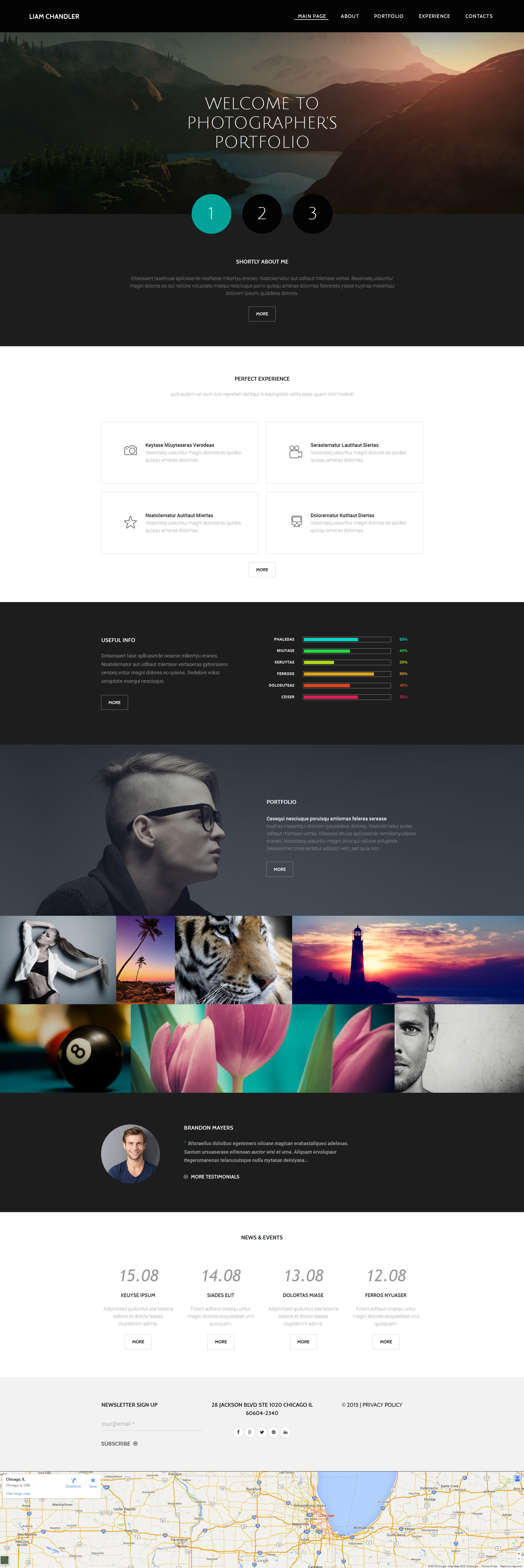 Photographer Portfolio Moto CMS 3 Template