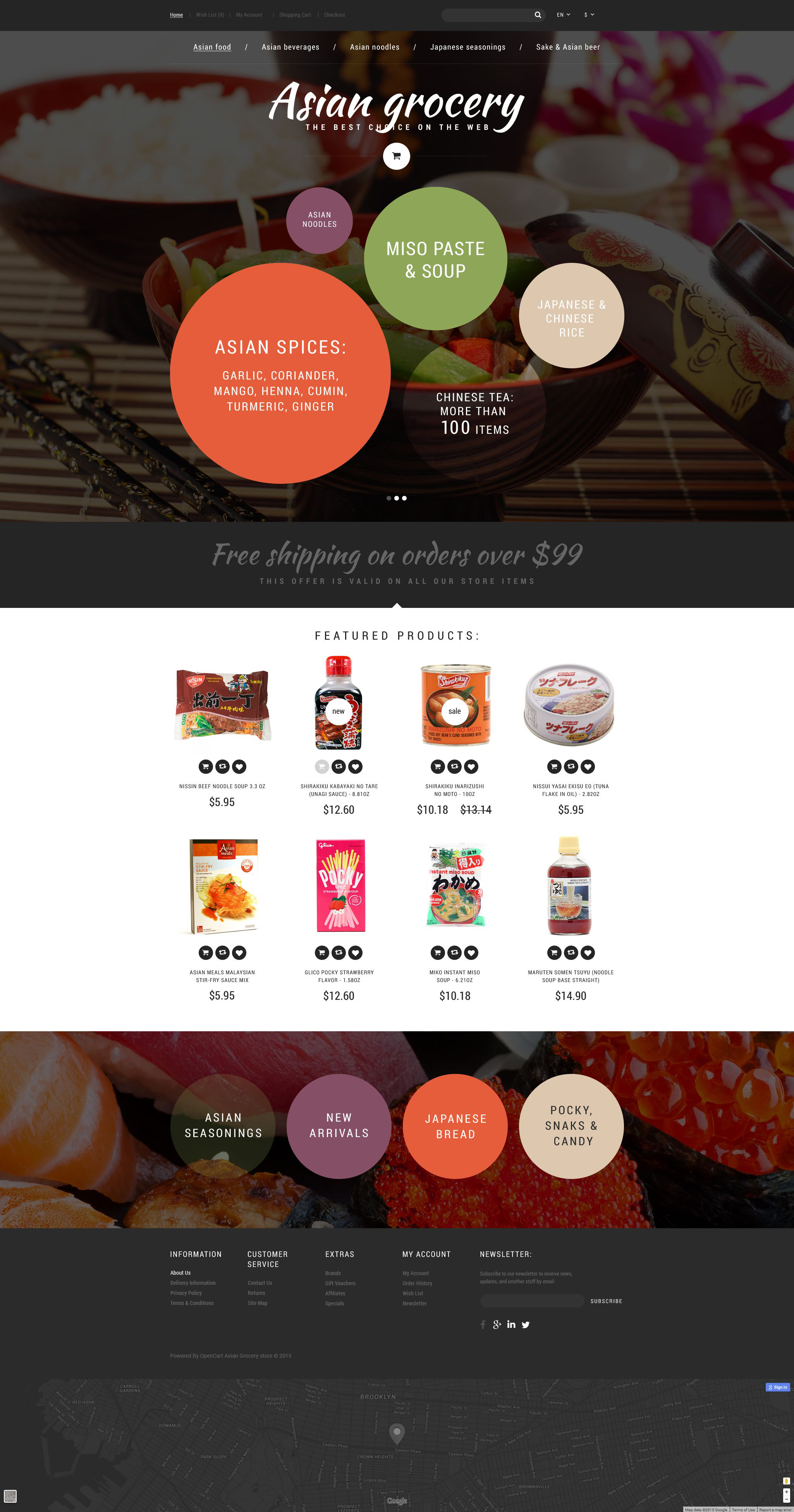 Asian Grocery Store OpenCart Template