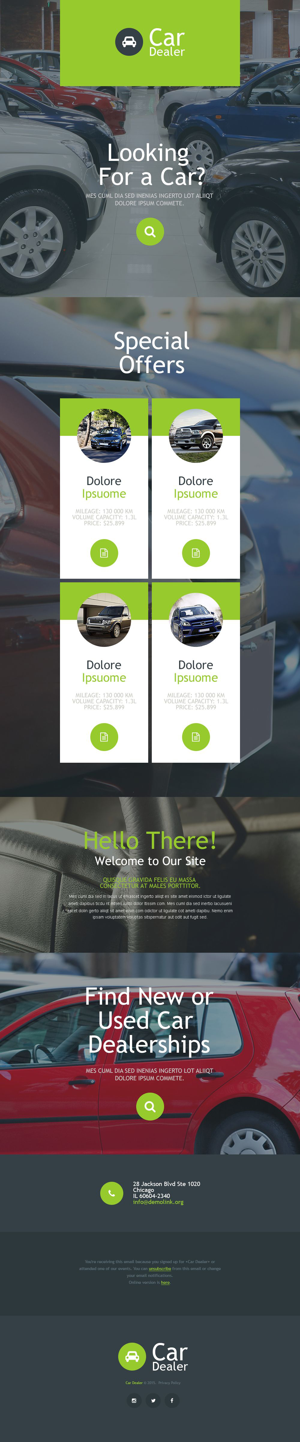 Car Dealer Responsive Newsletter Template