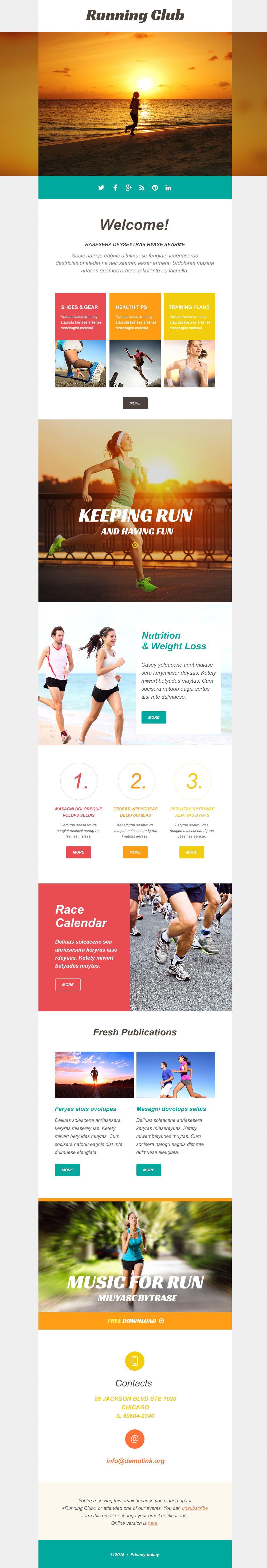 Running Responsive Newsletter Template