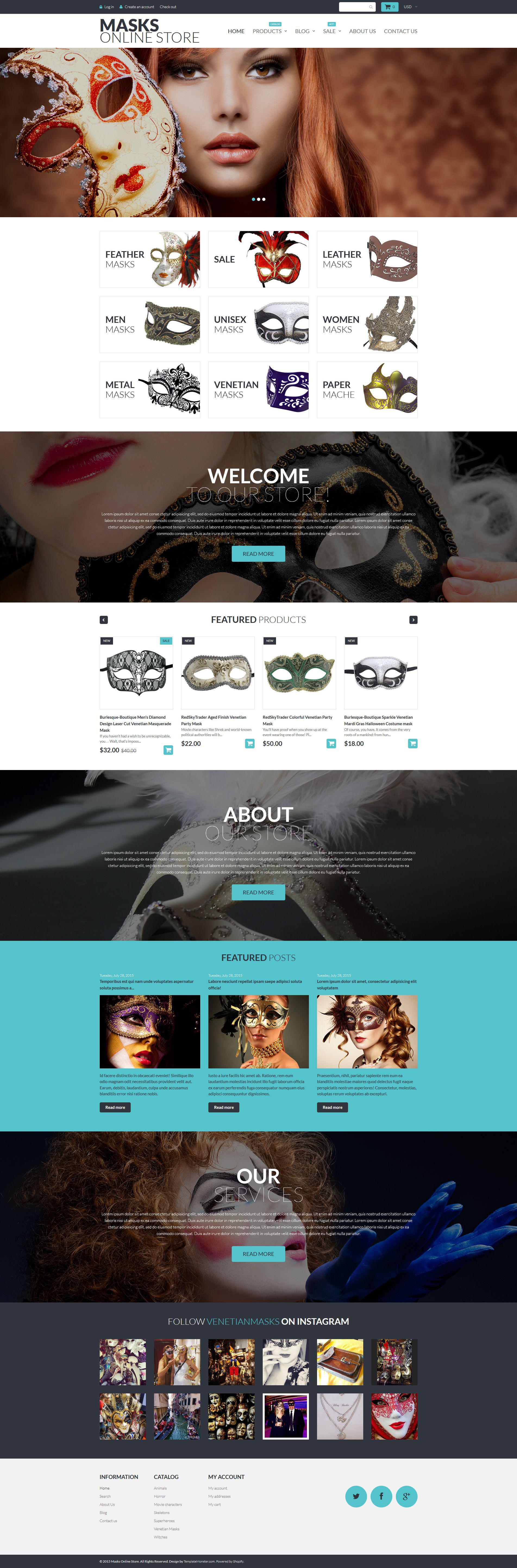 Masks Online Store Shopify Theme