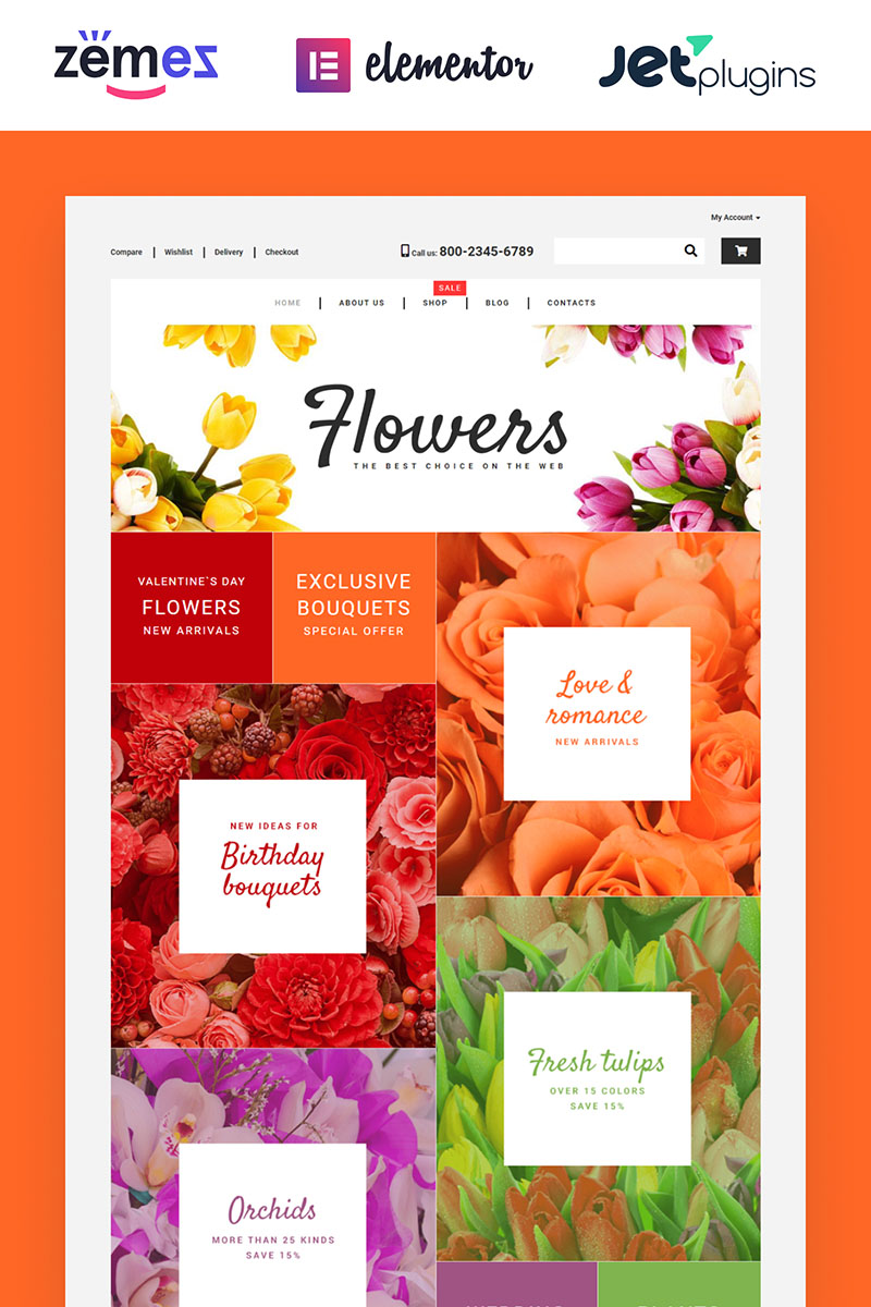 Flower Shop - Colorful WooCommerce Theme