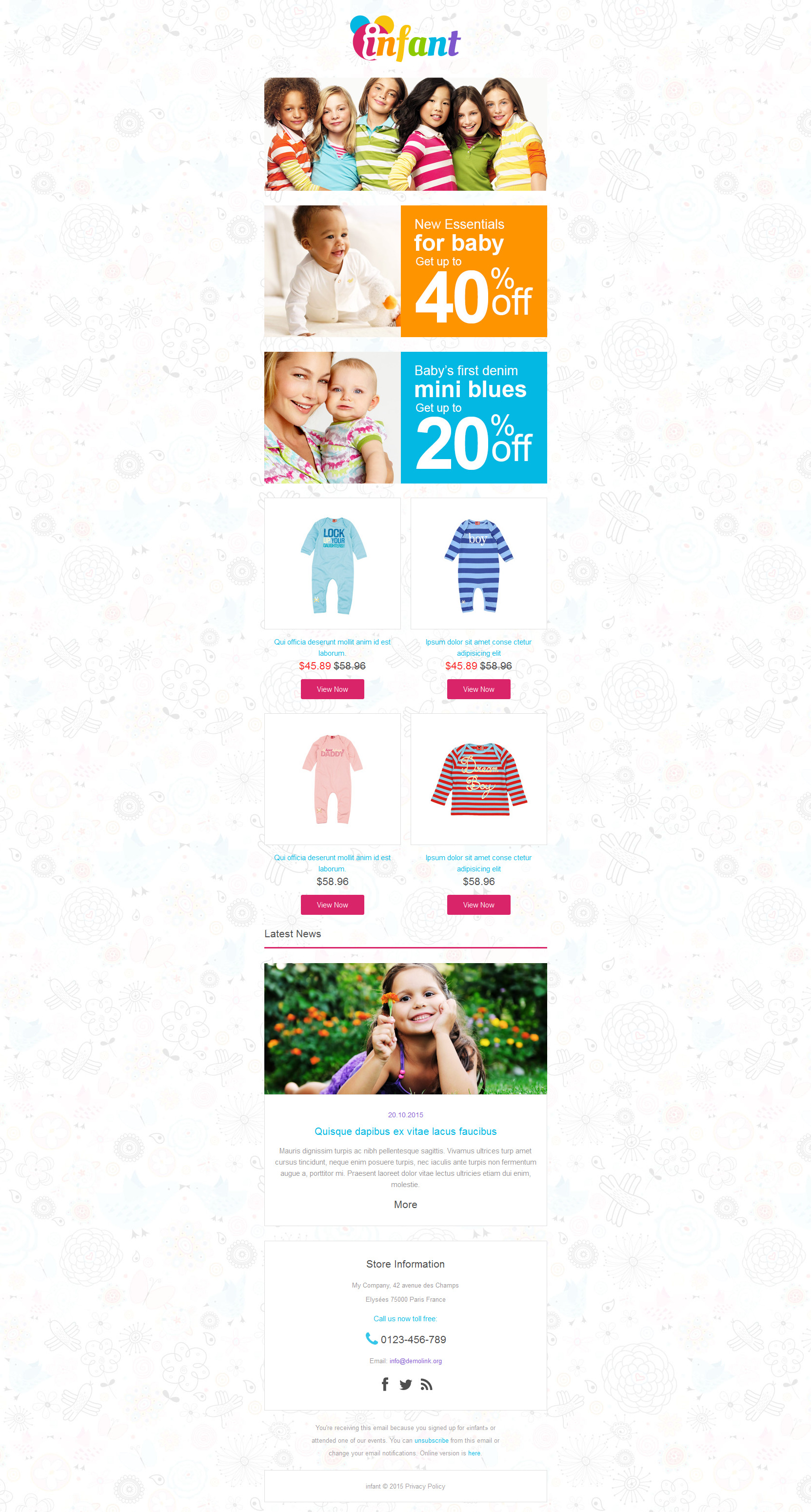Baby Store Responsive Newsletter Template