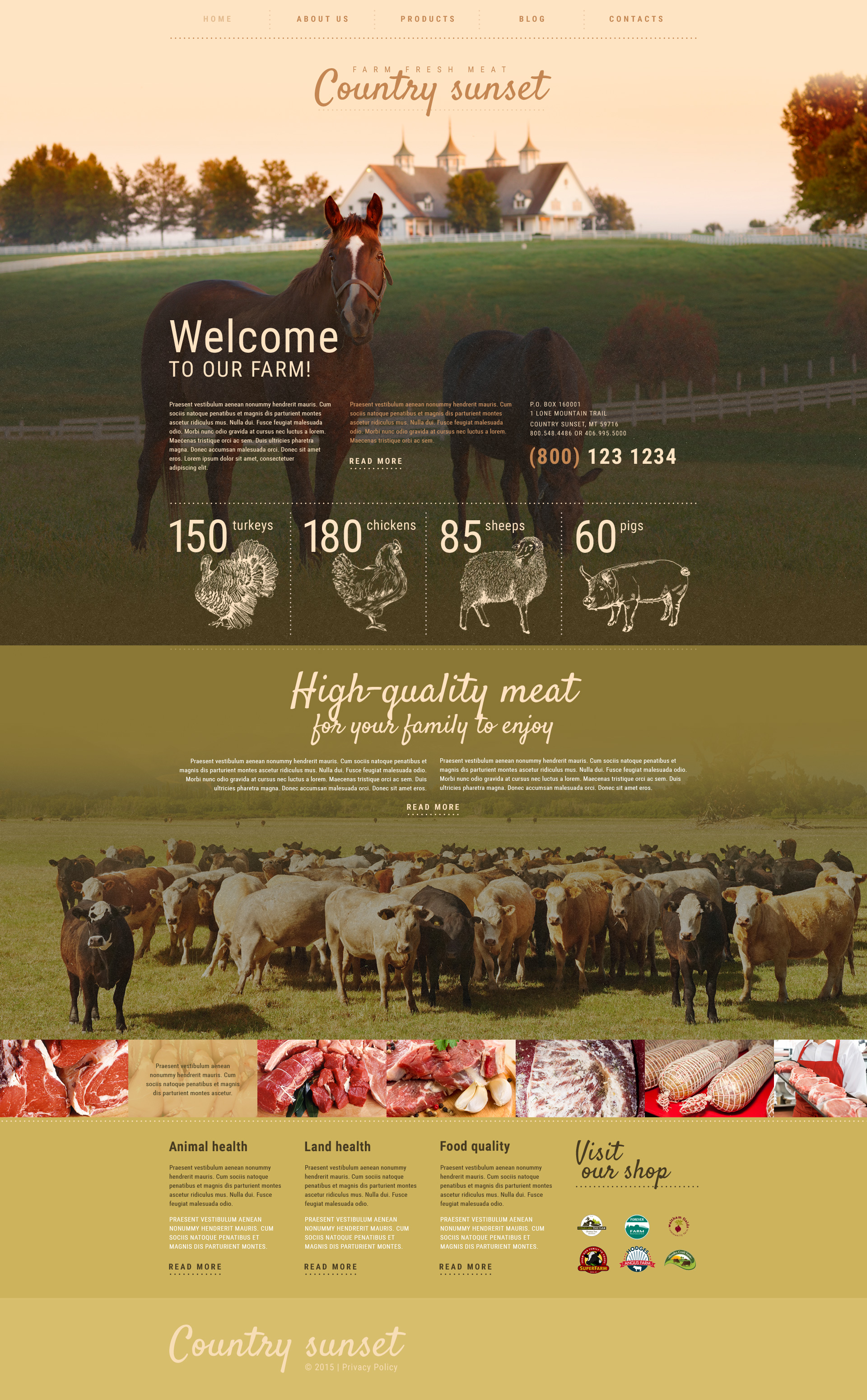 Country Sunset WordPress Theme
