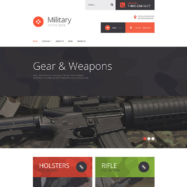 Template Militar VirtueMart #55357