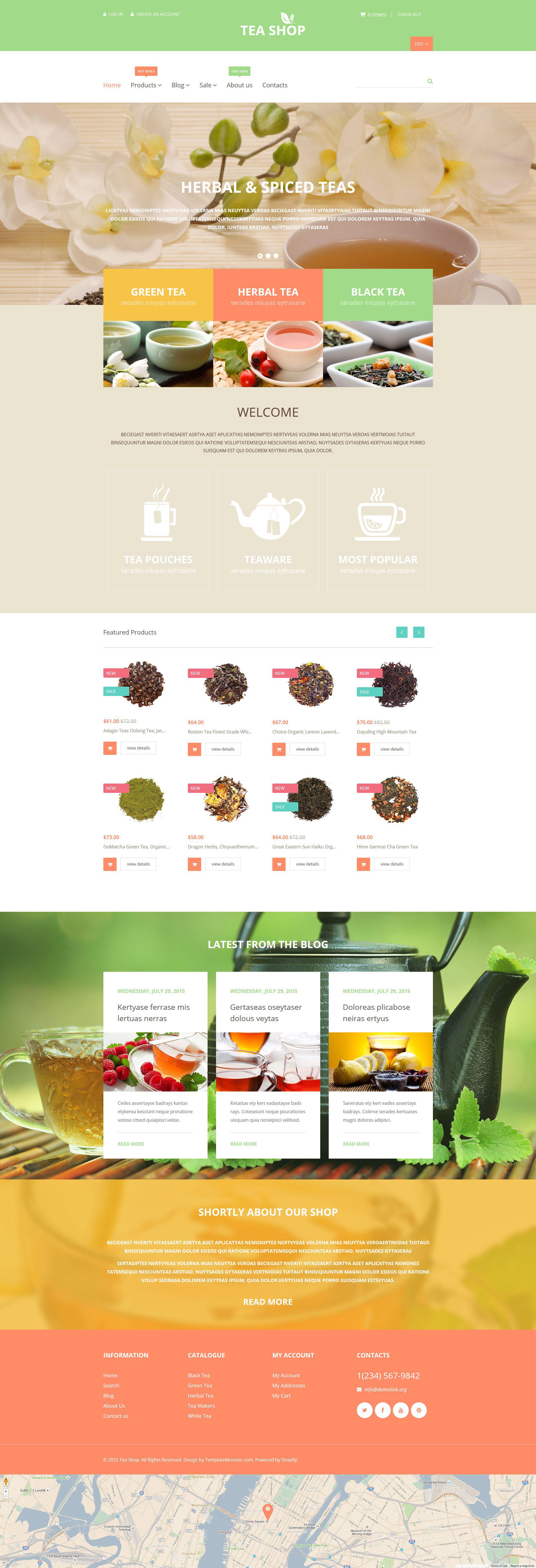 Tea Shop Shopify Theme