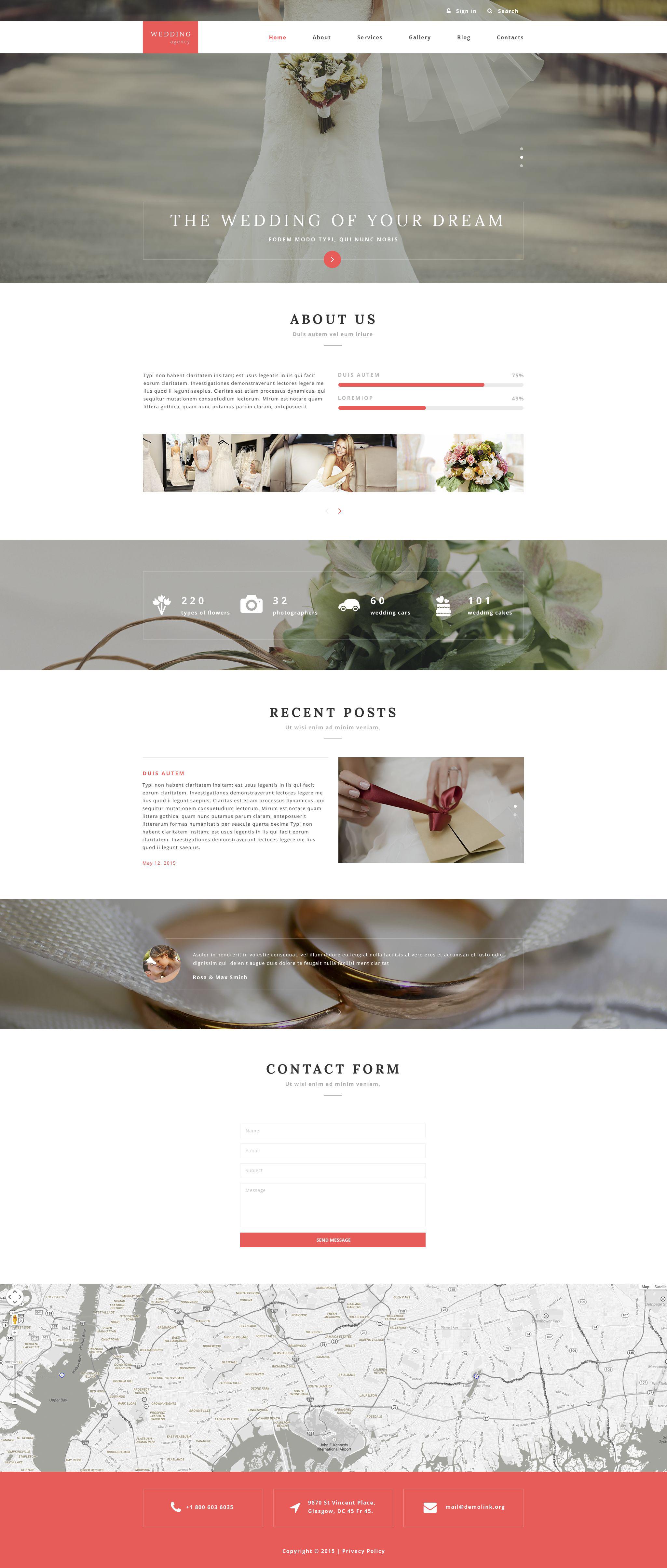 Wedding Agency Drupal Template