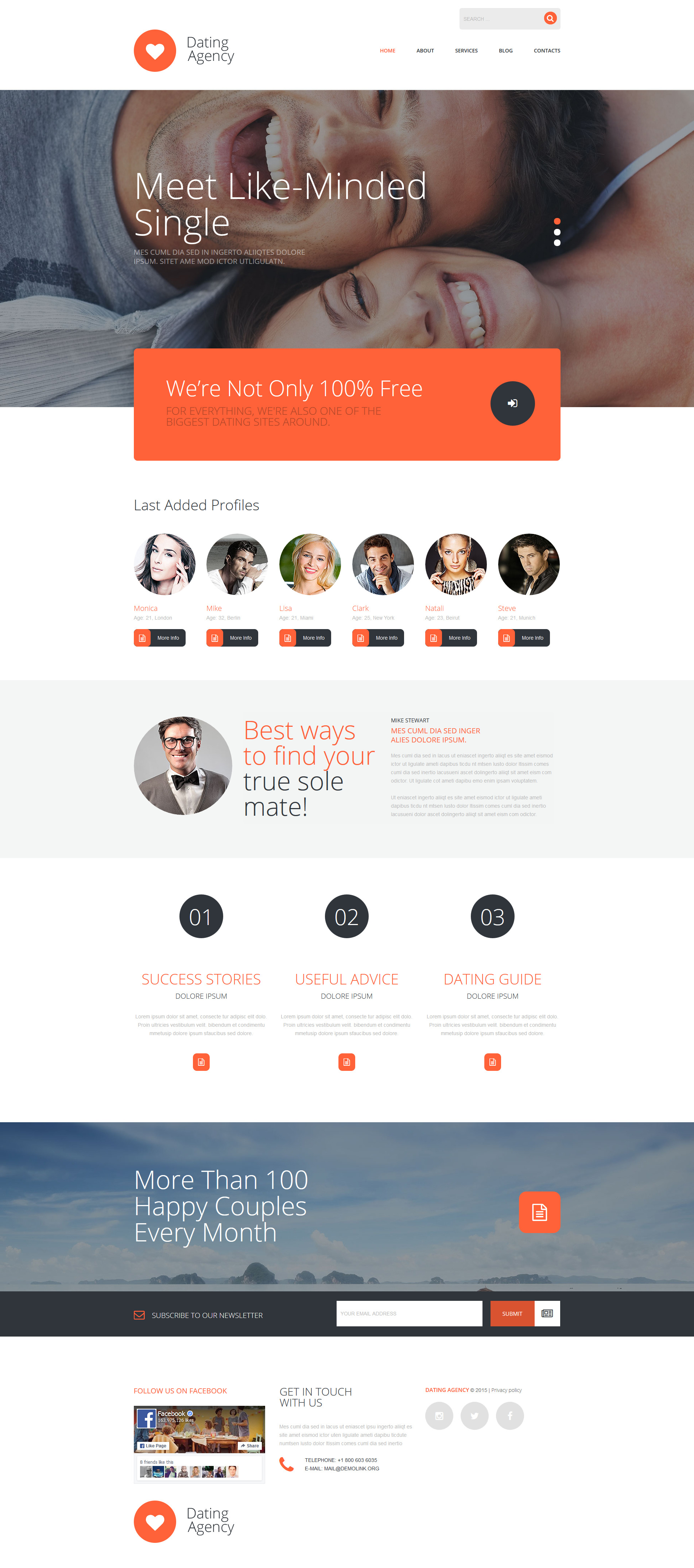 Dating Agency Joomla Template