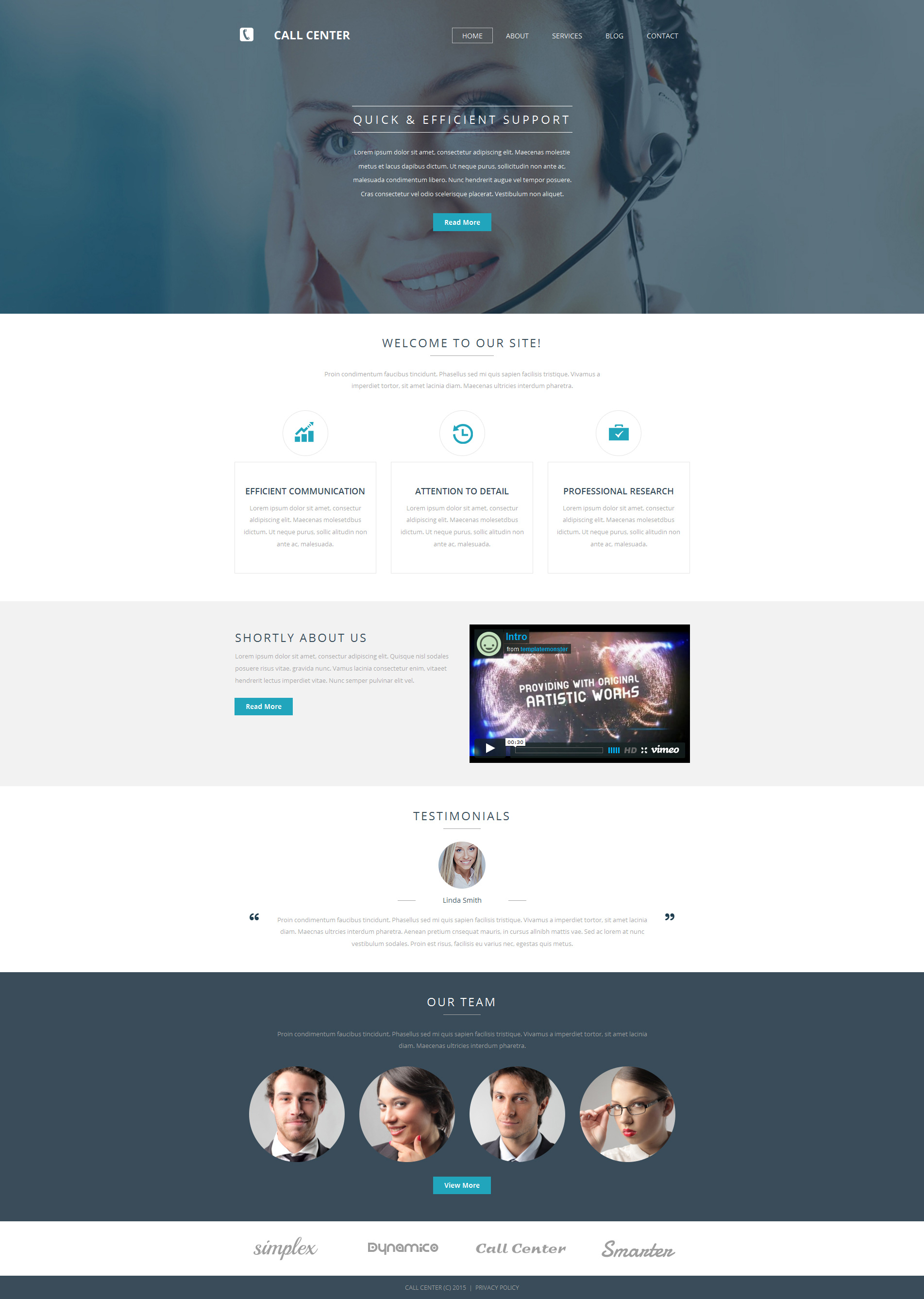 Call Center Moto CMS 3 Template