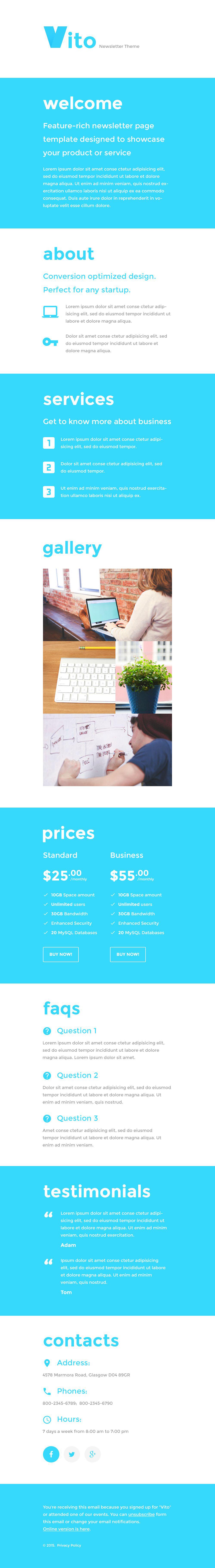 Web Design Responsive Newsletter Template