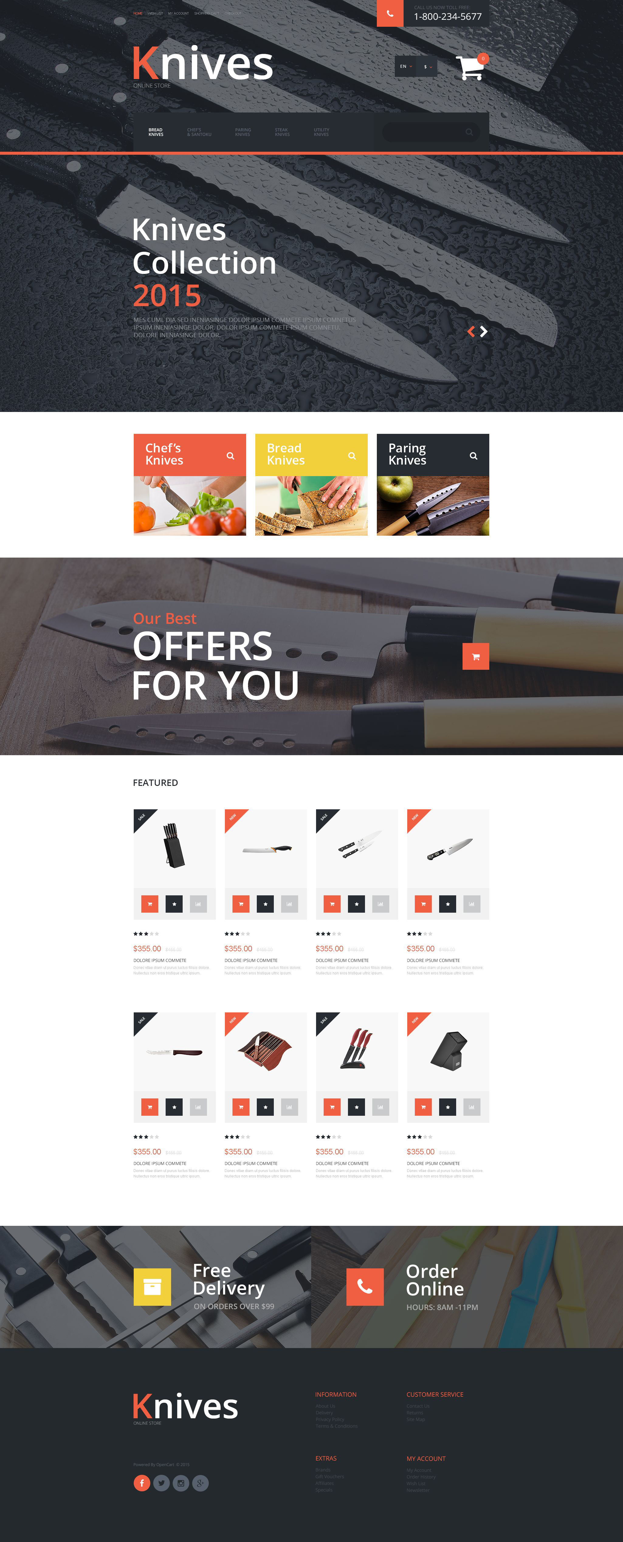 Knives OpenCart Template